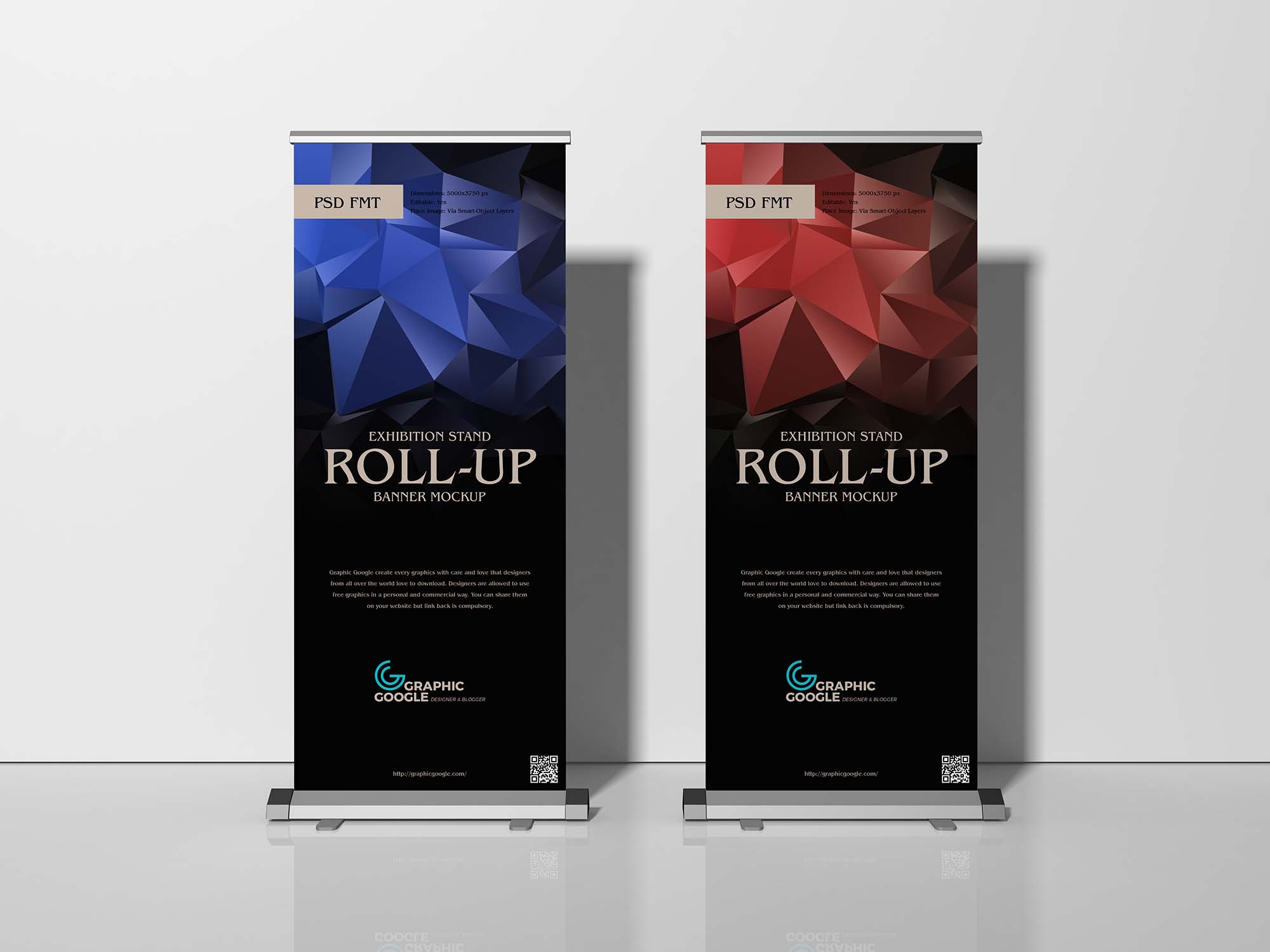 Exhibition Stand Roll-Up Banner Mockup 2