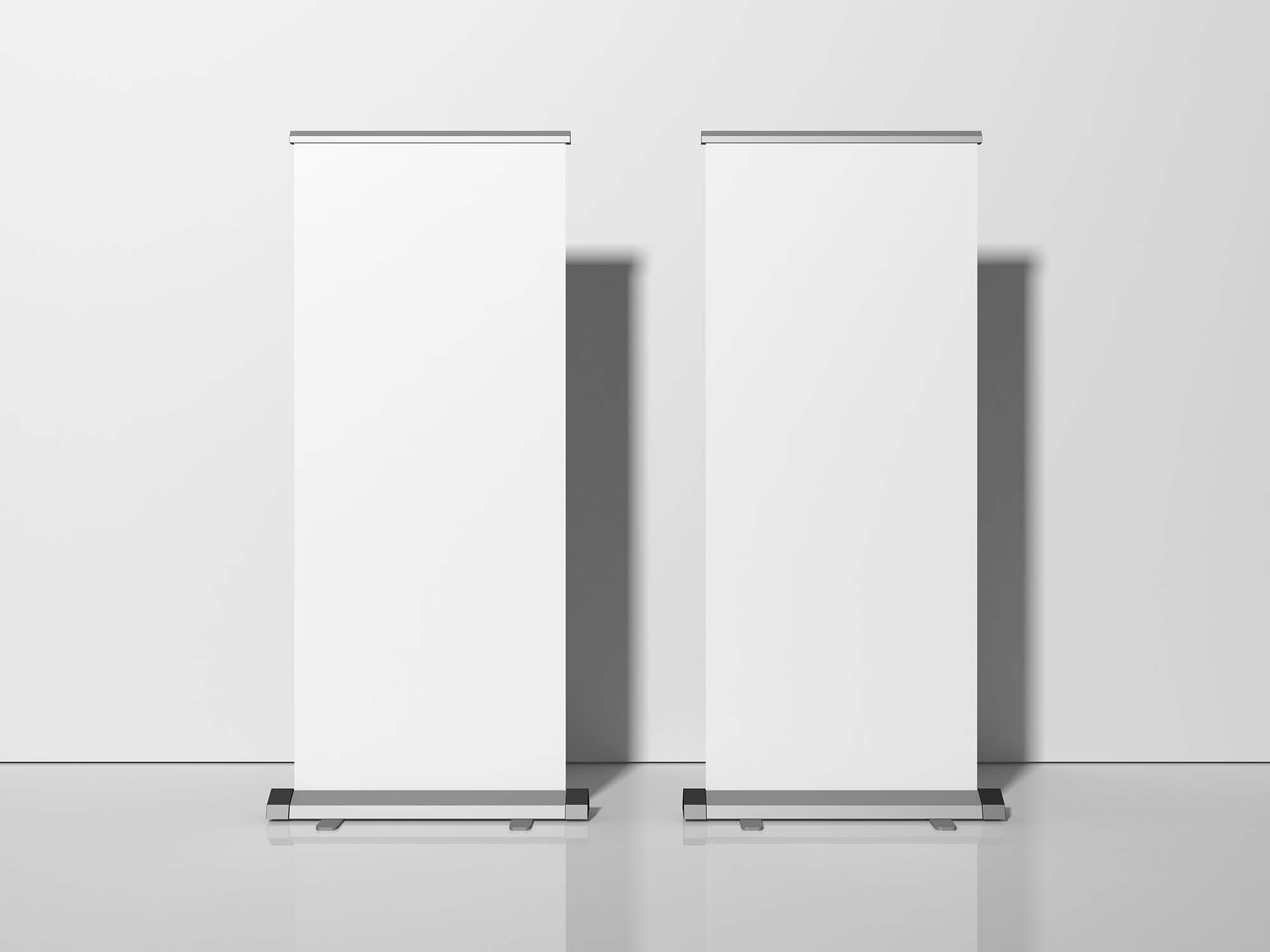 Exhibition Stand Roll-Up Banner Mockup 3