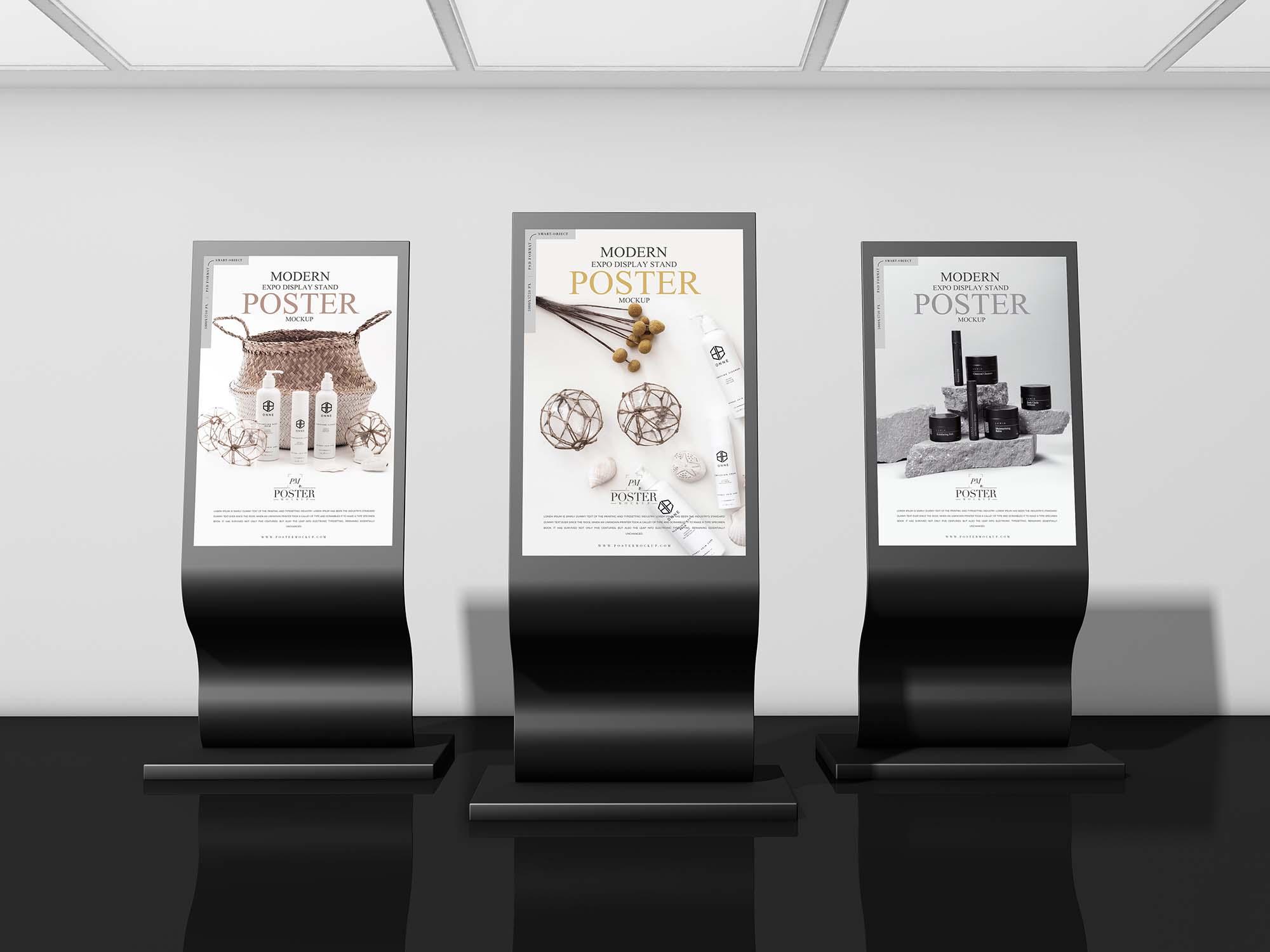 Expo Display Stand Poster Mockup
