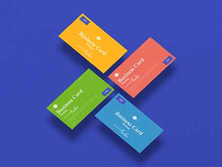 Floating Branding Business Card Mockup