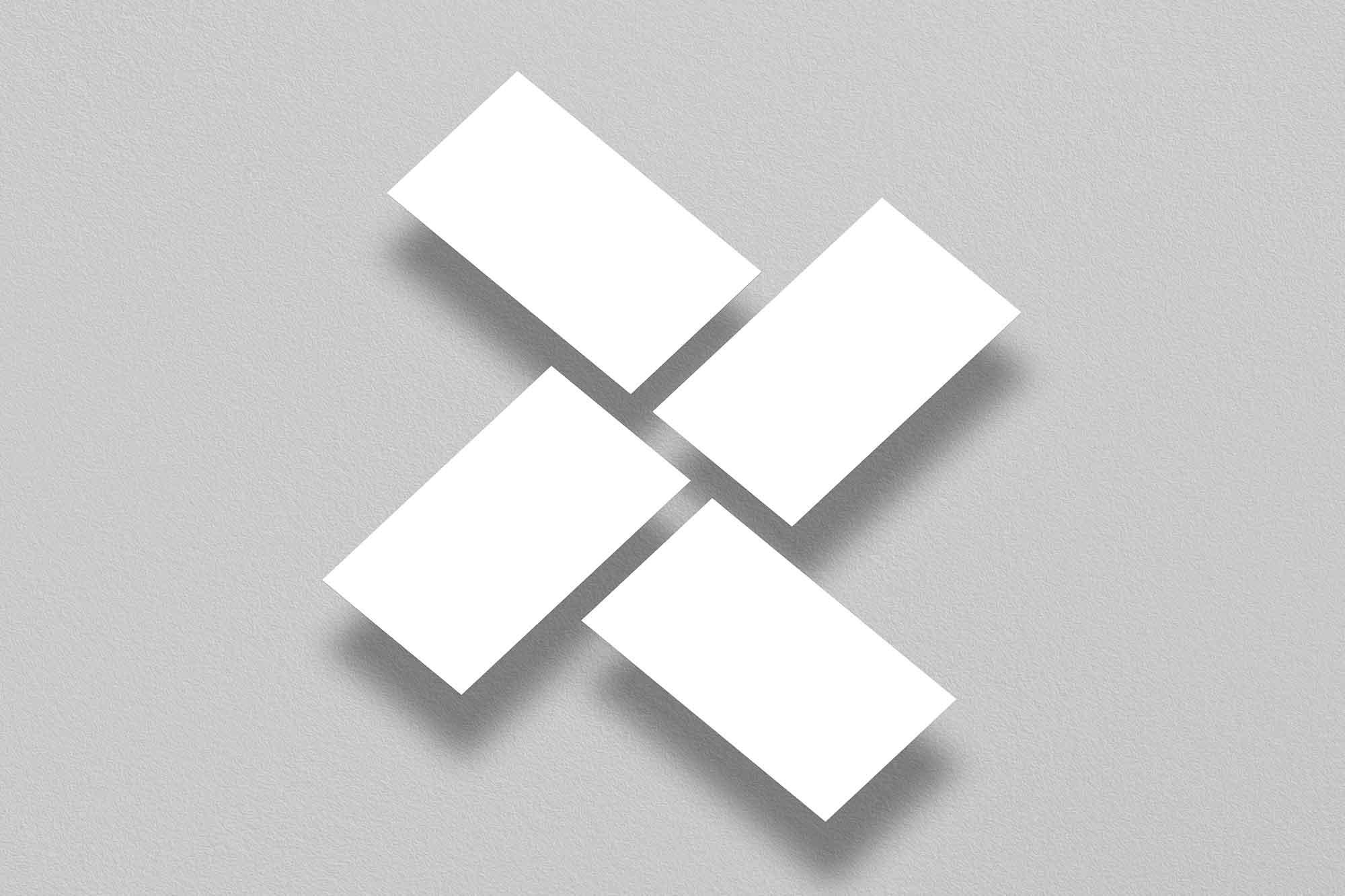 Floating Branding Business Card Mockup 2