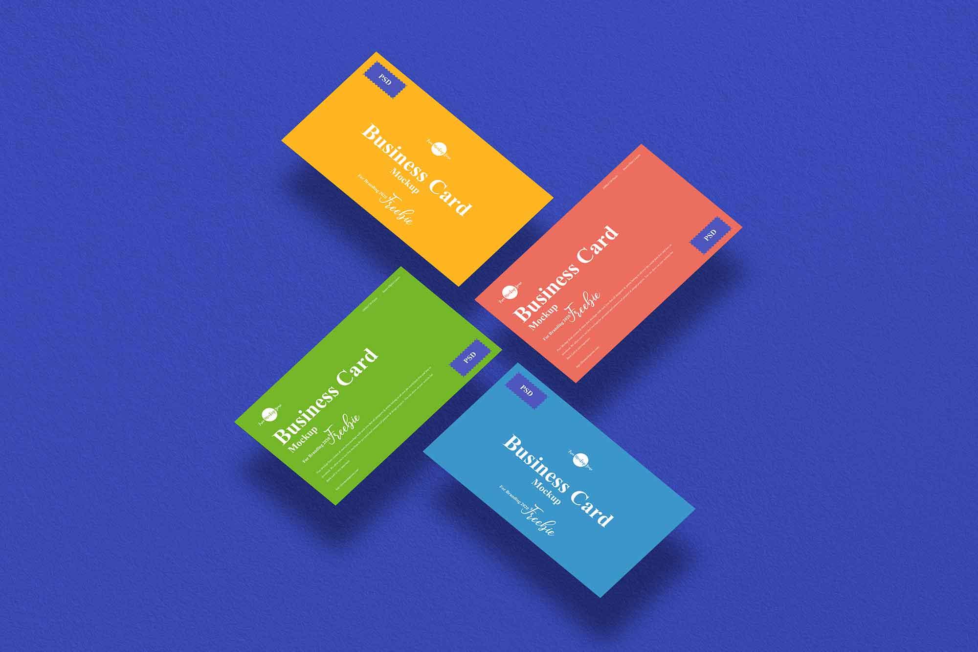 Floating Branding Business Card Mockup