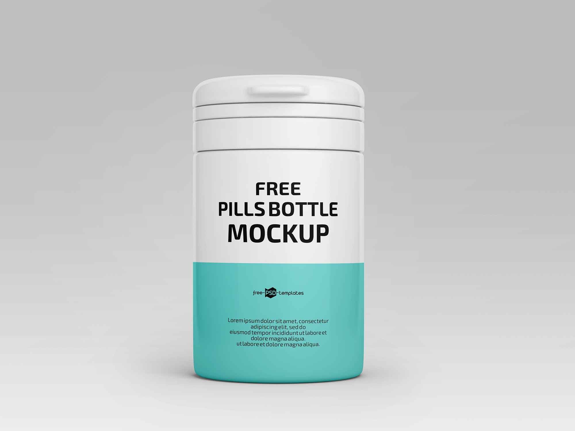 Floating Pill Bottles Mockup 2