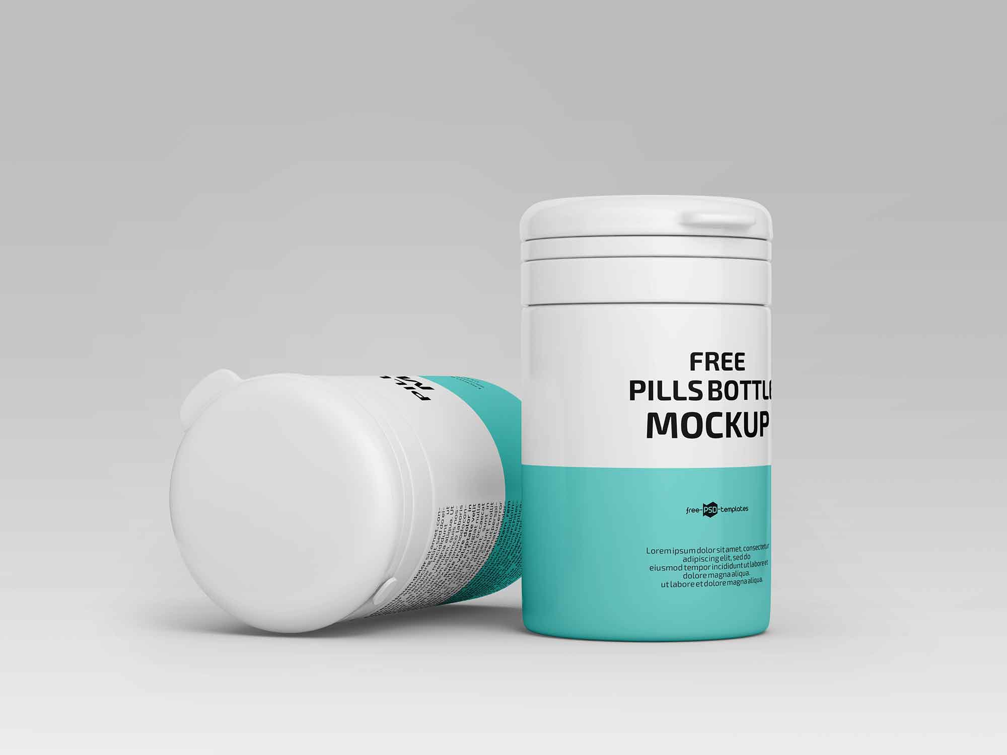 Floating Pill Bottles Mockup 3