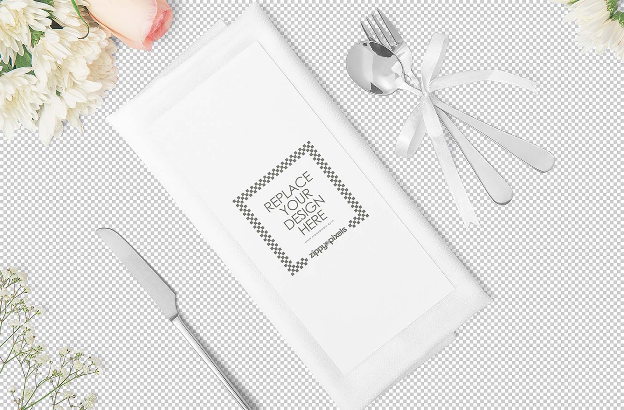 Foldable Restaurant Menu Mockup 2