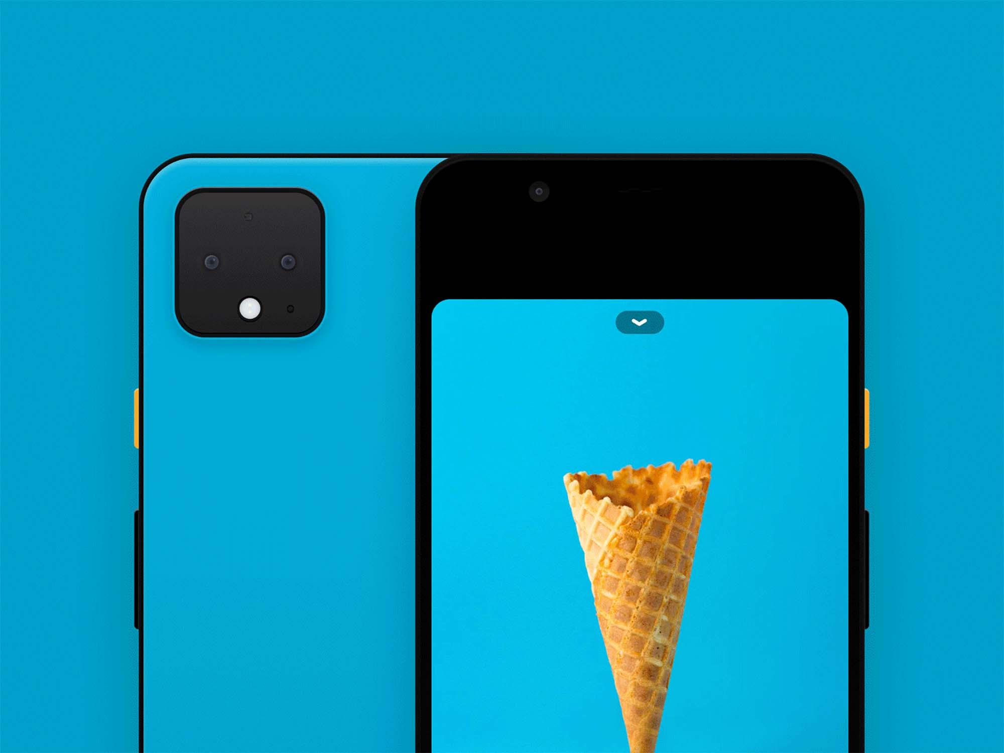 Google Pixel 4 Mockup Closeup