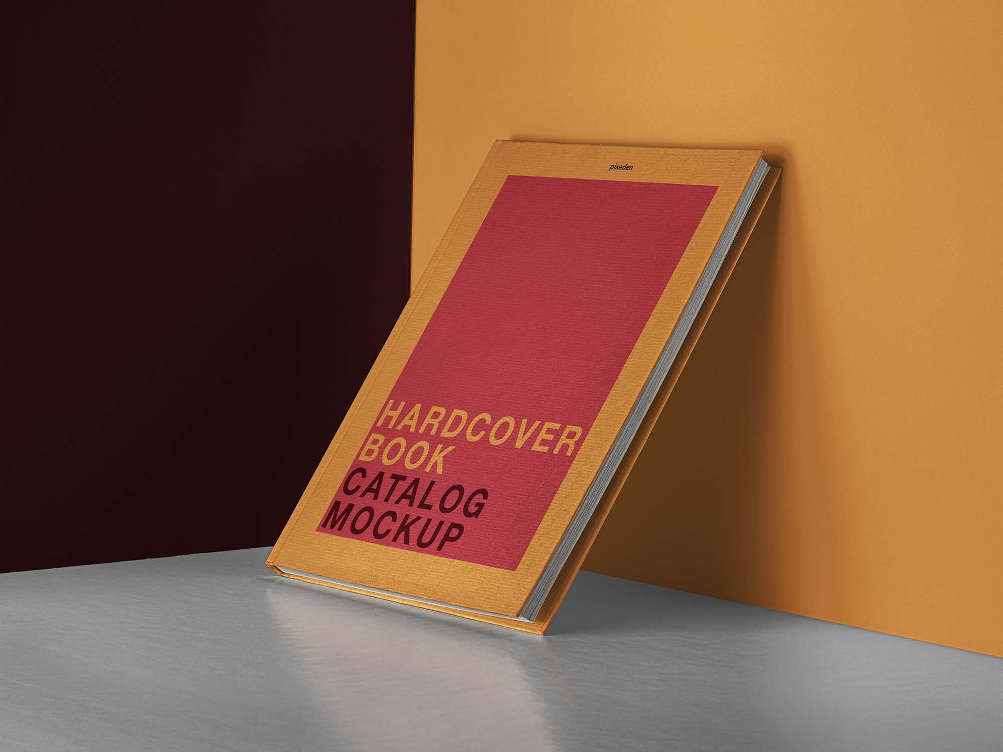 Hardcover Catalog Book Mockup
