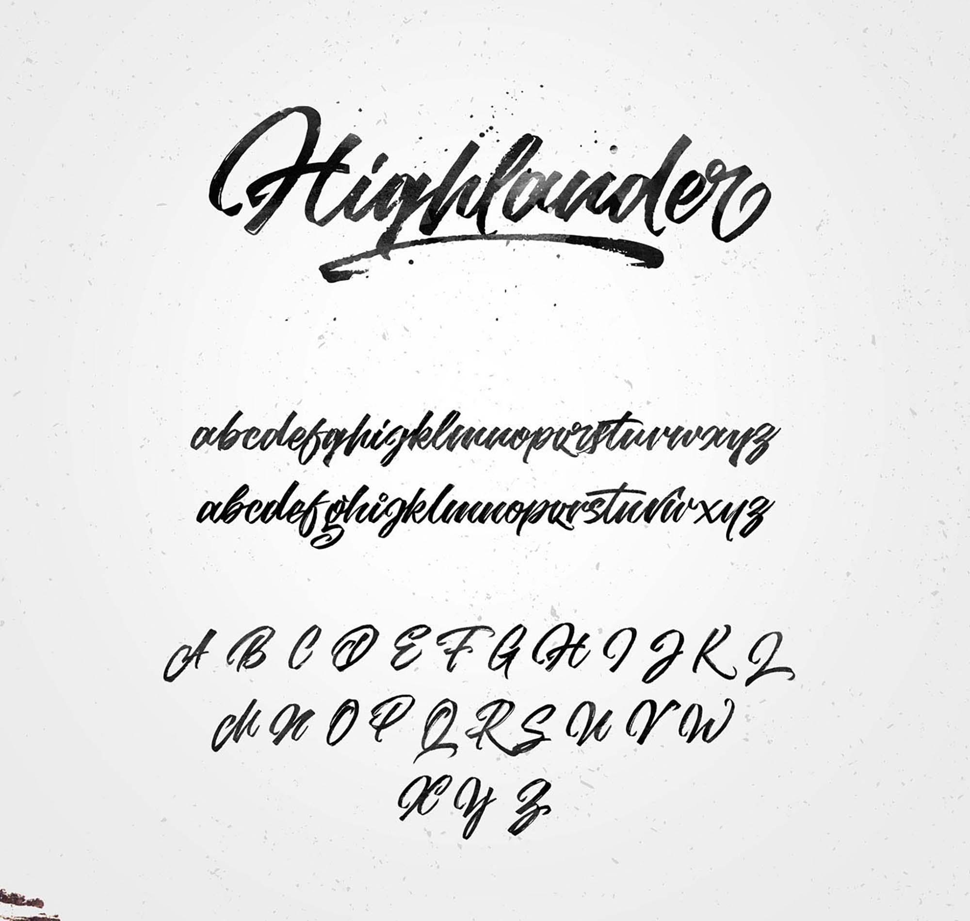 Highlander Marker Script Font 3