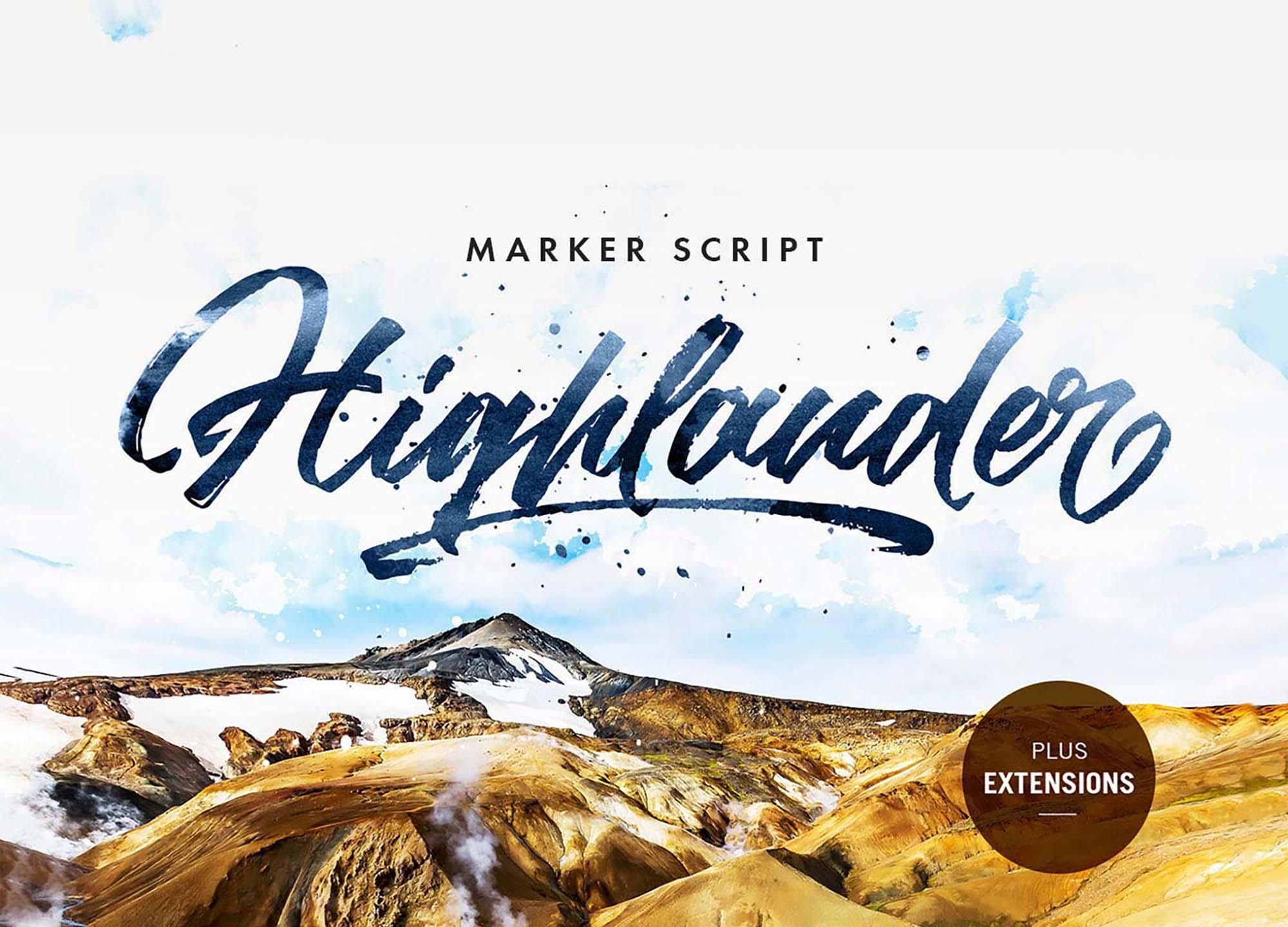 Highlander Marker Script Font