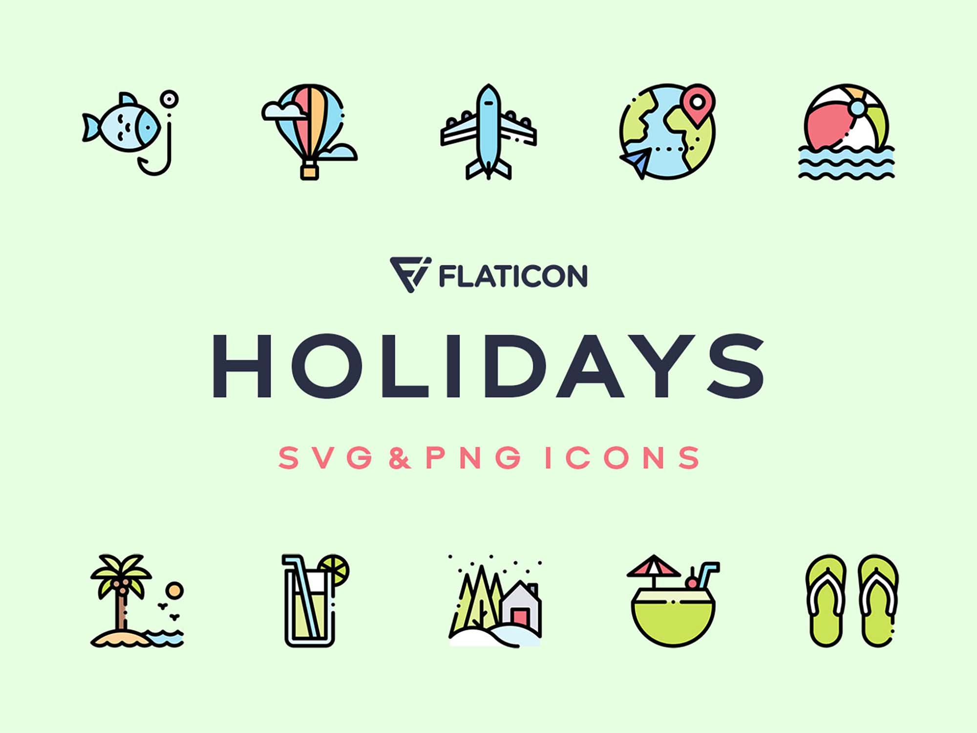 Holidays Vector Icons
