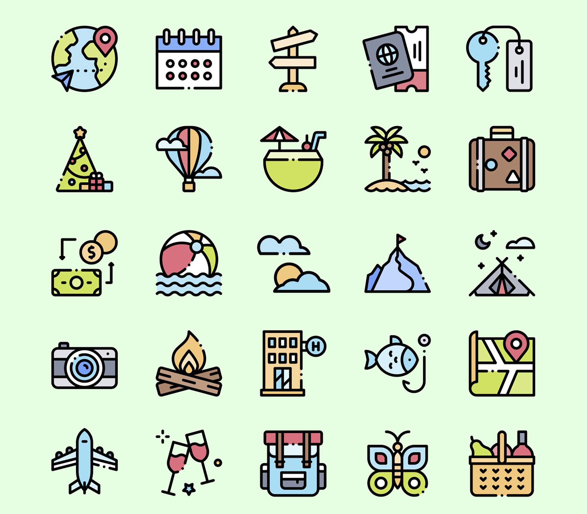 Holidays Vector Icons 2