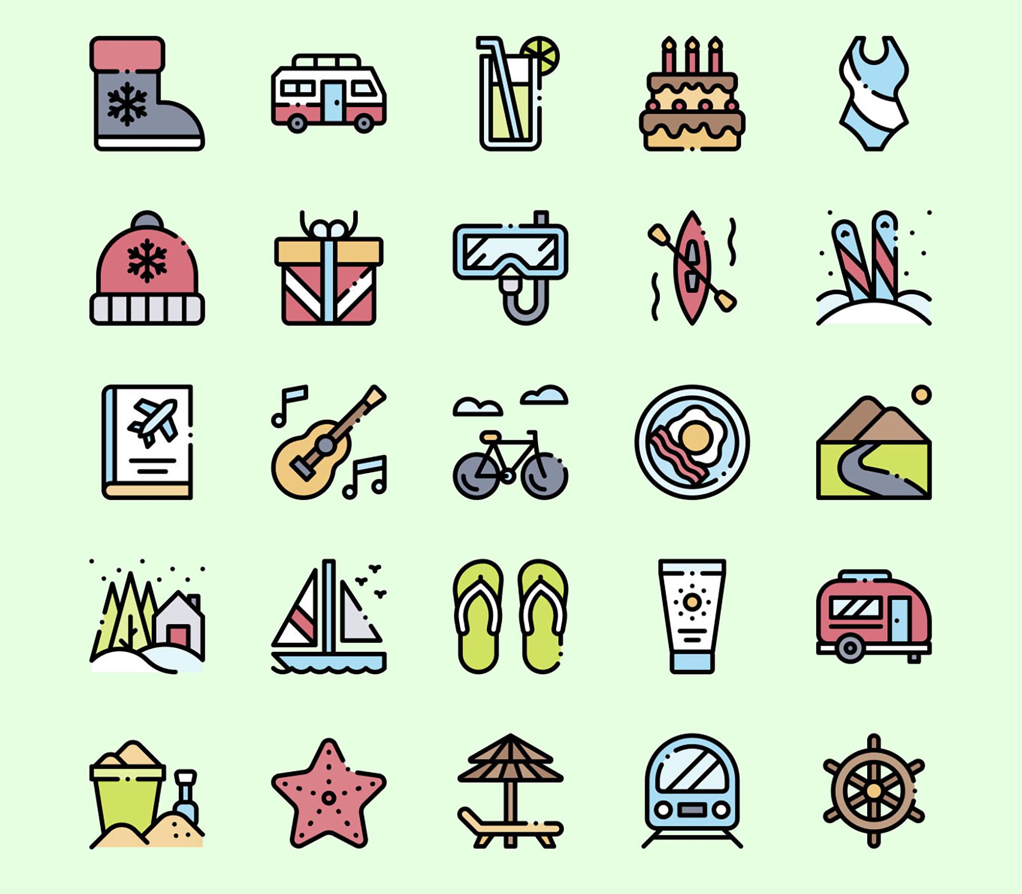 Holidays Vector Icons 3