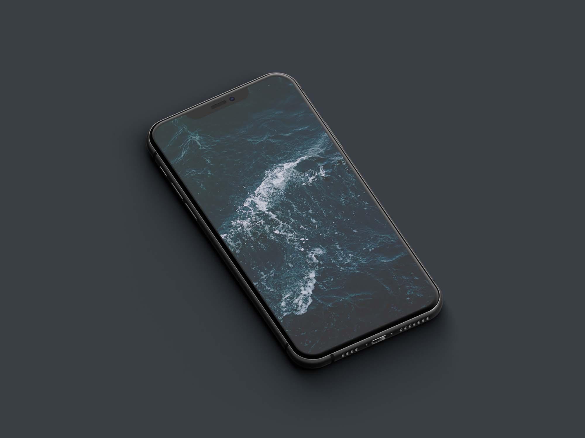 Isometric iPhone 11 Pro Mockup