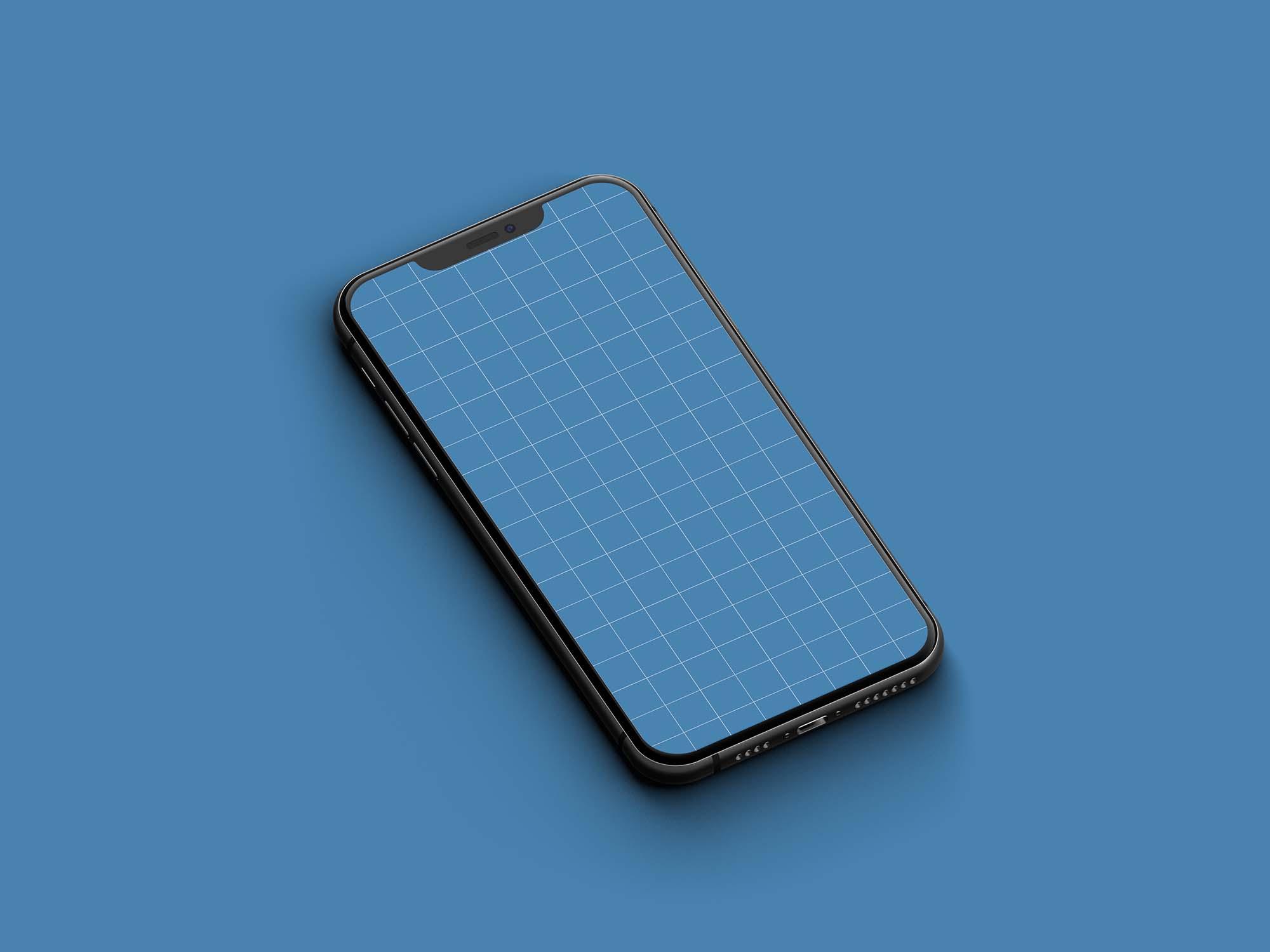 Isometric iPhone 11 Pro Mockup 2