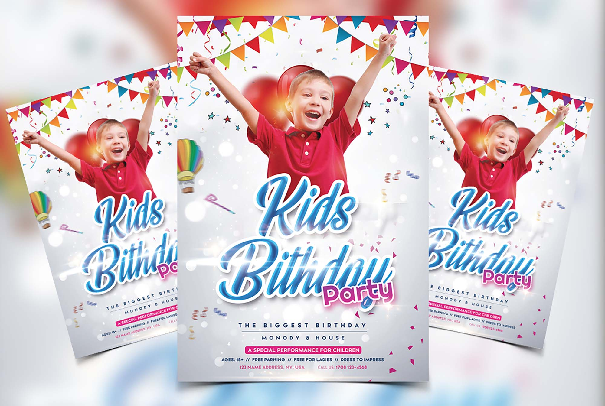 Kids Birthday Flyer Template