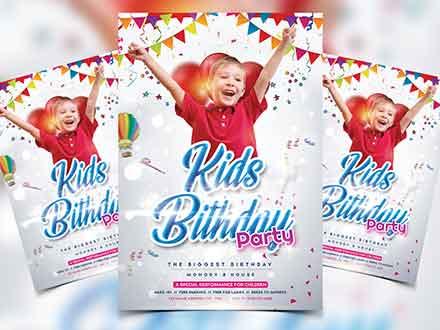 Kids Birthday Flyer Template