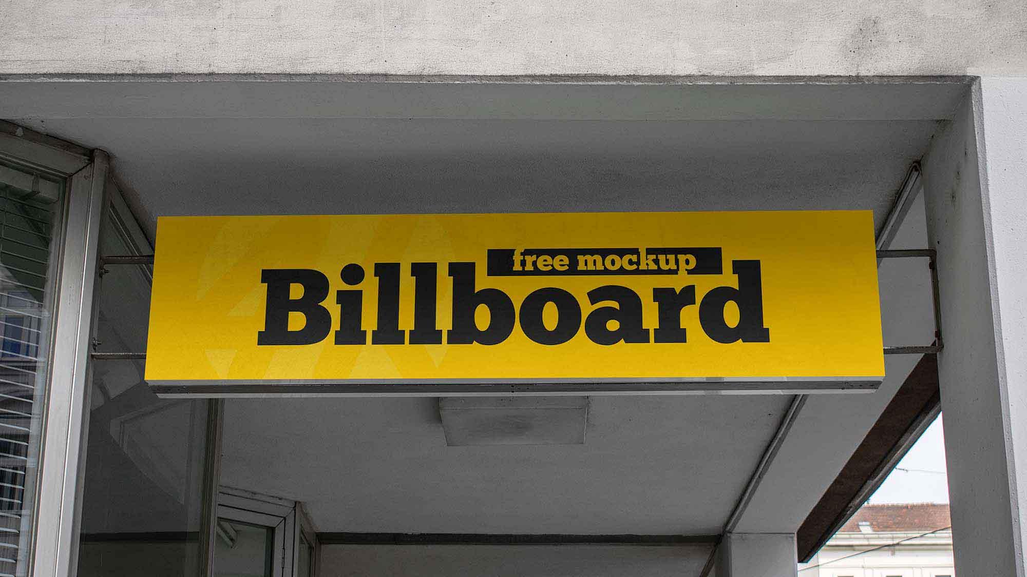Long Rectangular Billboard Mockup