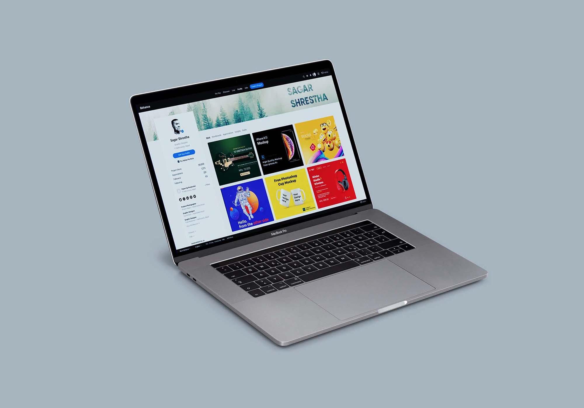 Macbook Pro Mockup 3
