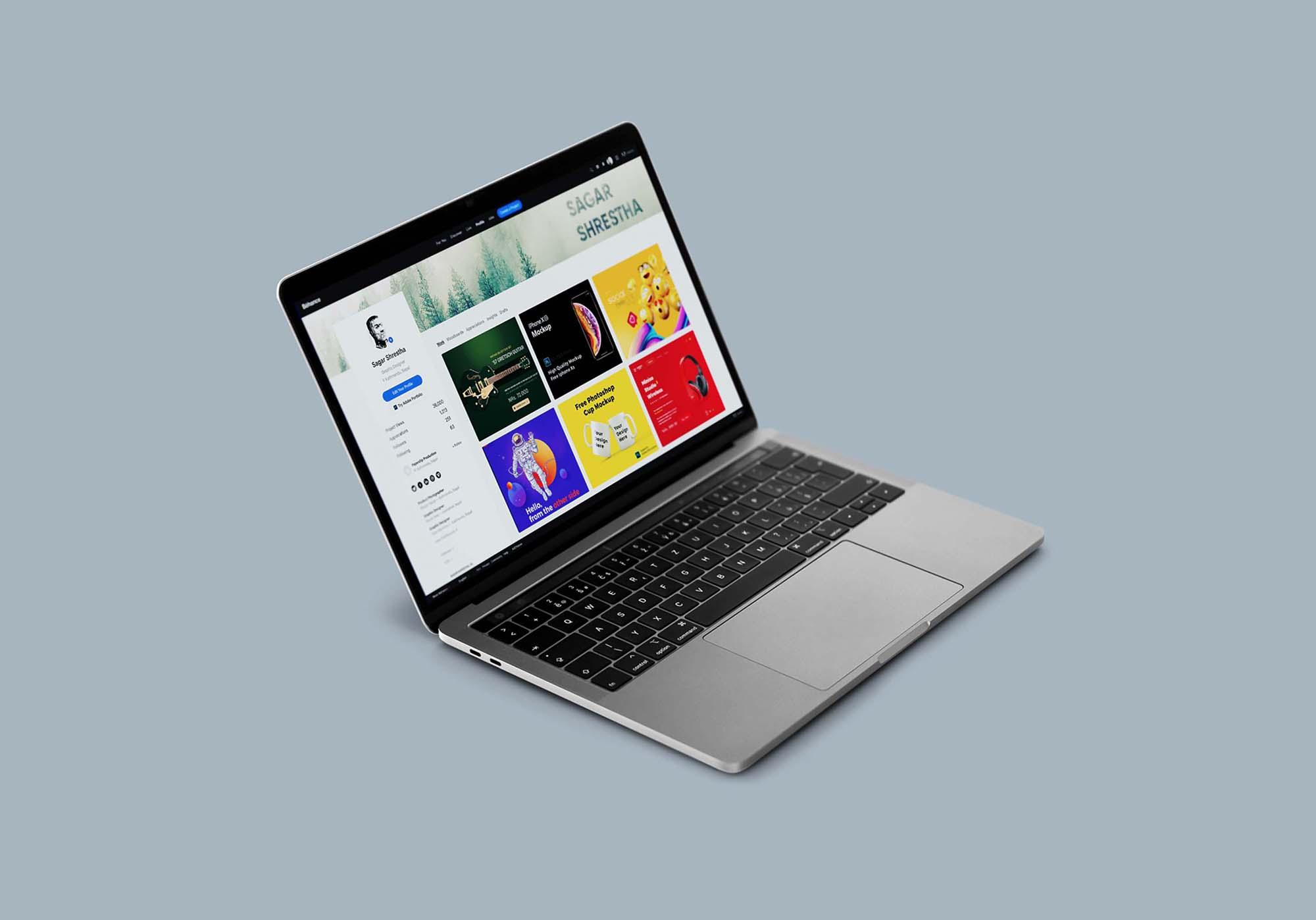 Macbook Pro Mockup 4