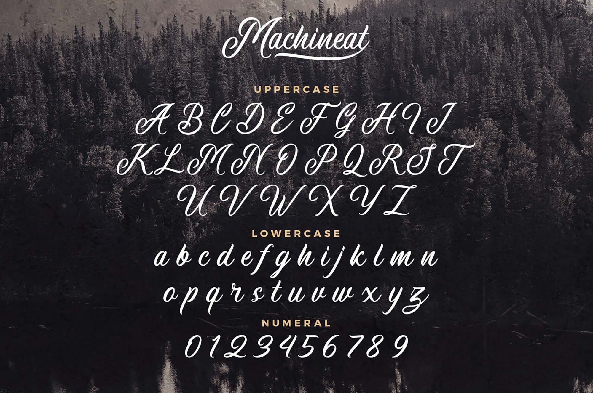 Machineat Script Font 3