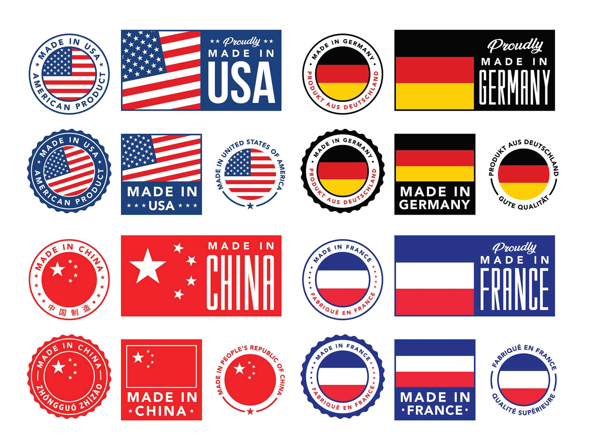 Made in Vector Labels and Badges
