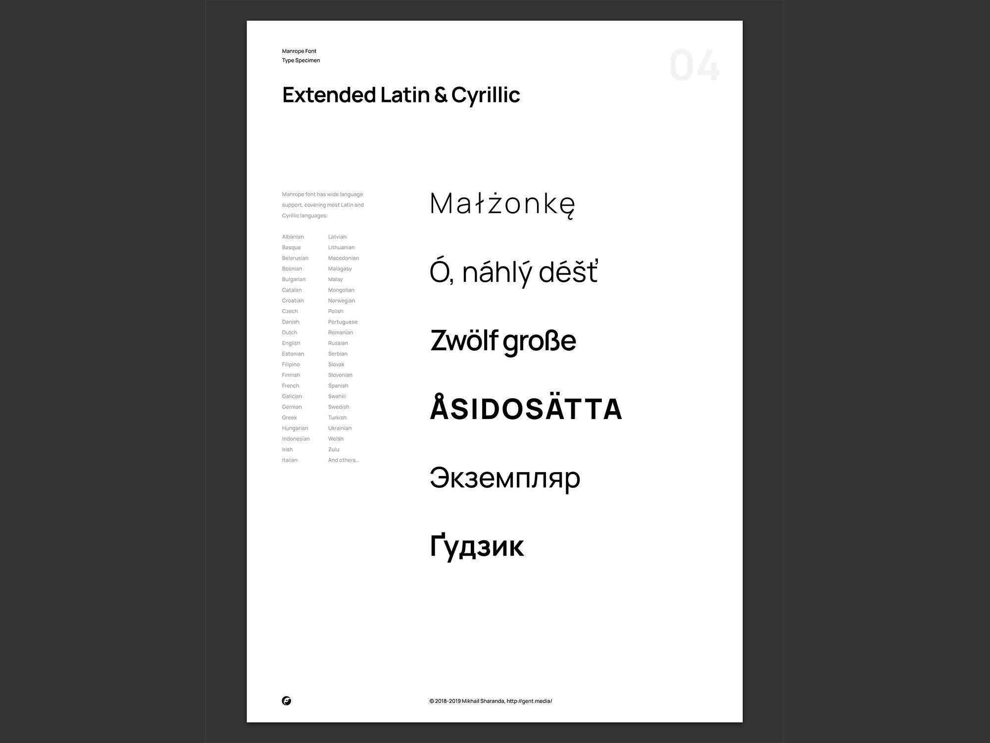 Manrope Font Family 2