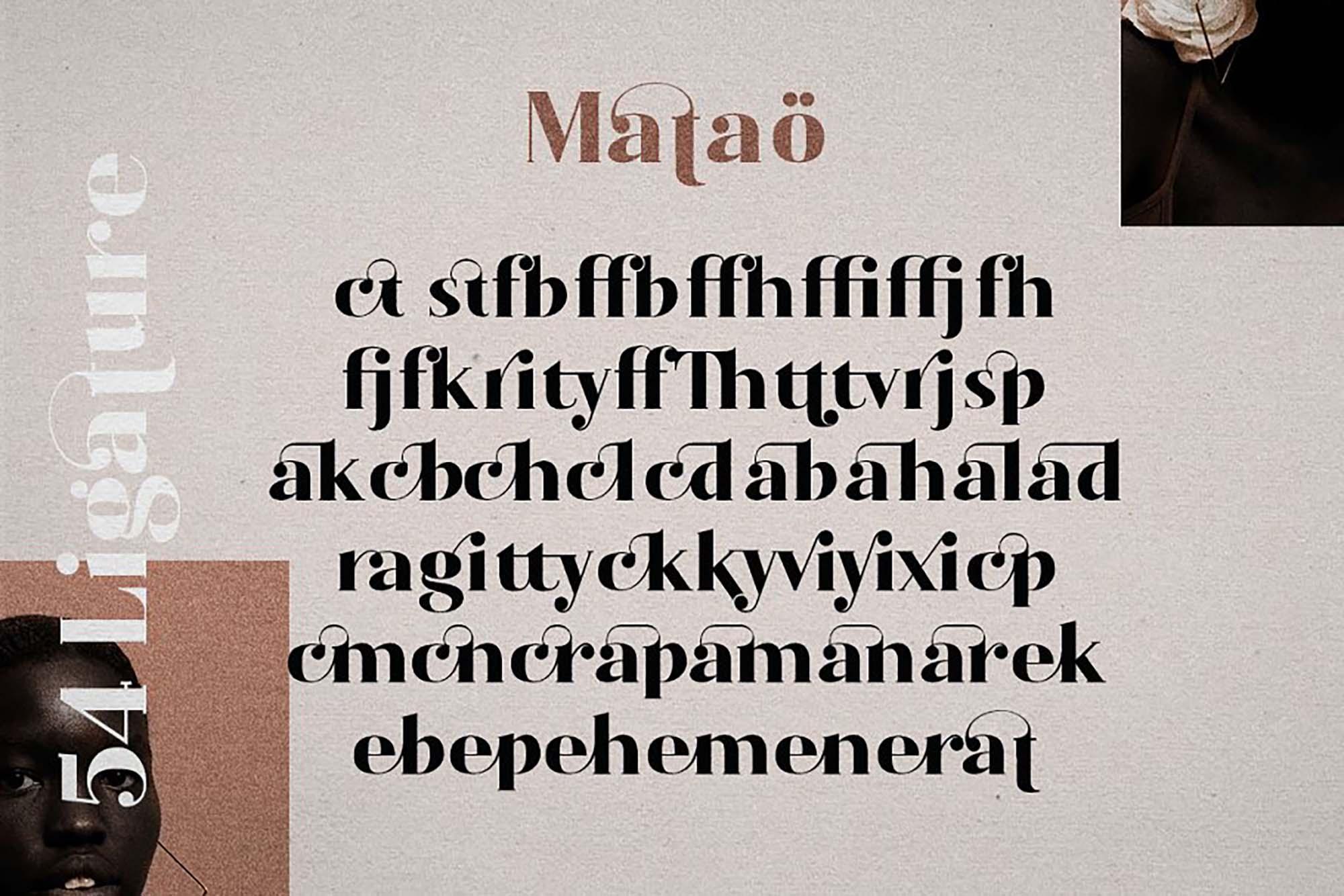 Mataö Elegant Serif Font 2
