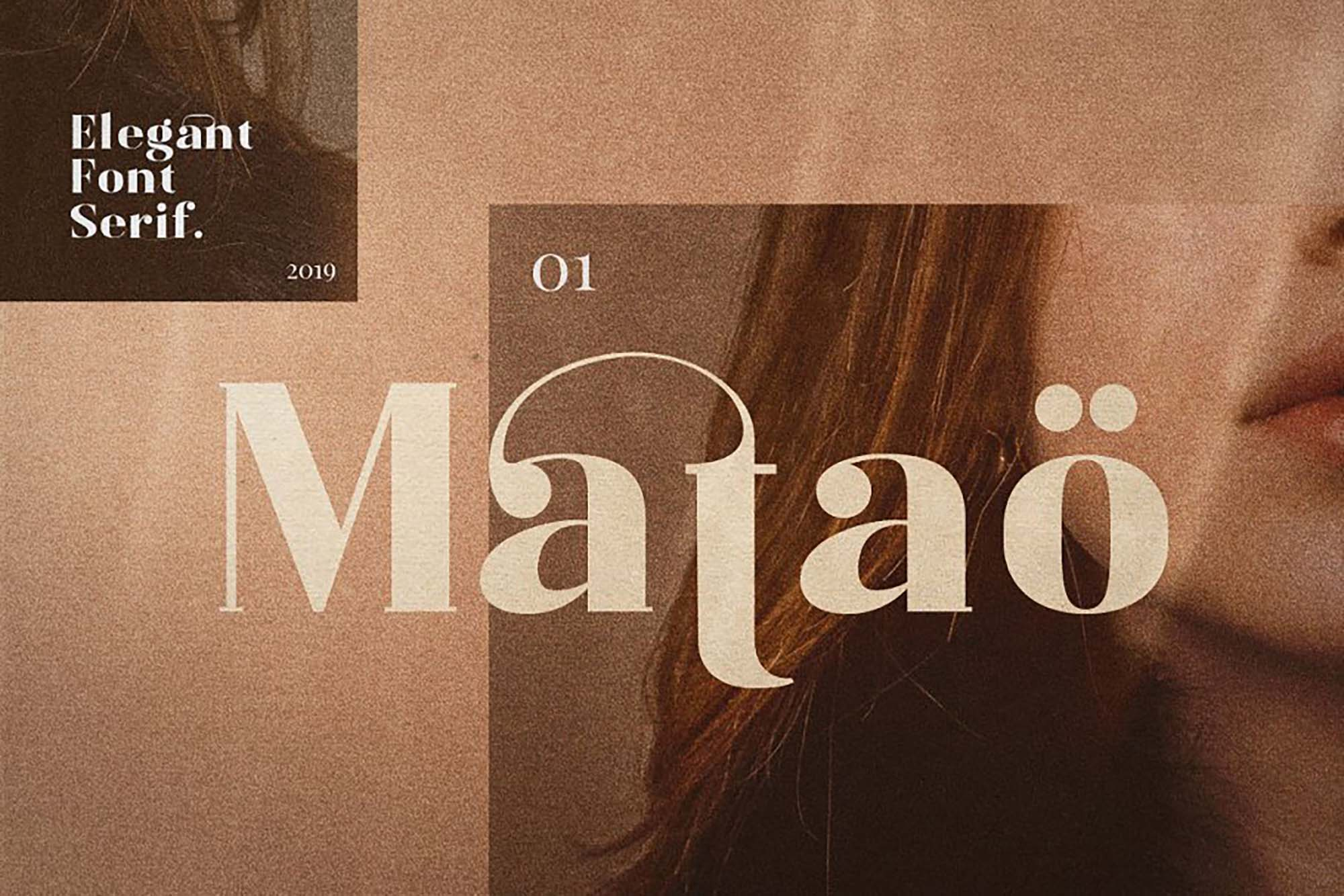 Mataö Elegant Serif Font