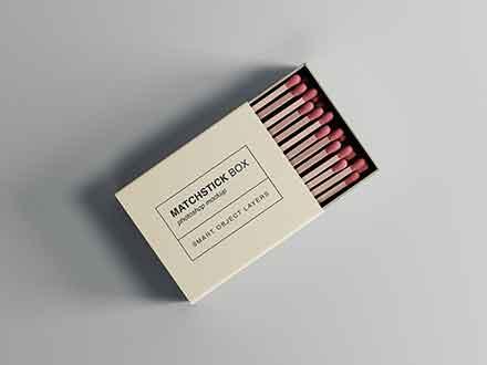 Matchstick Box Mockup