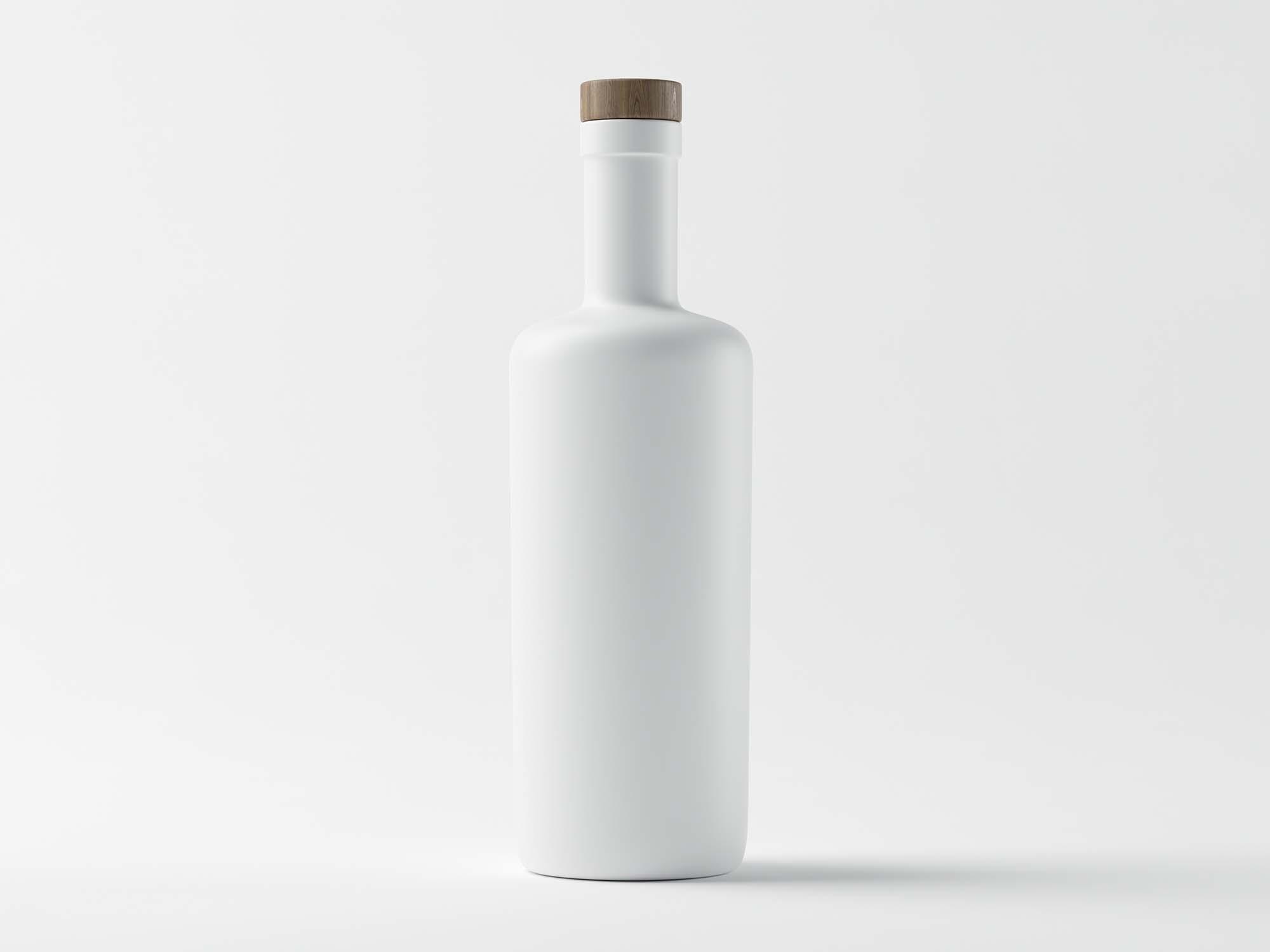 Matte White Bottle Mockup 2