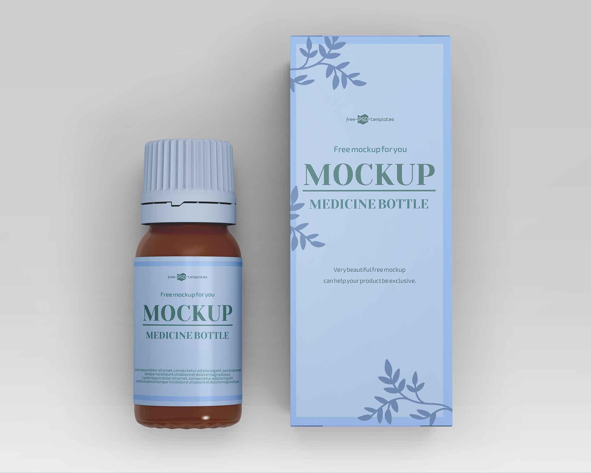 Medicine Bottle Mockup 2