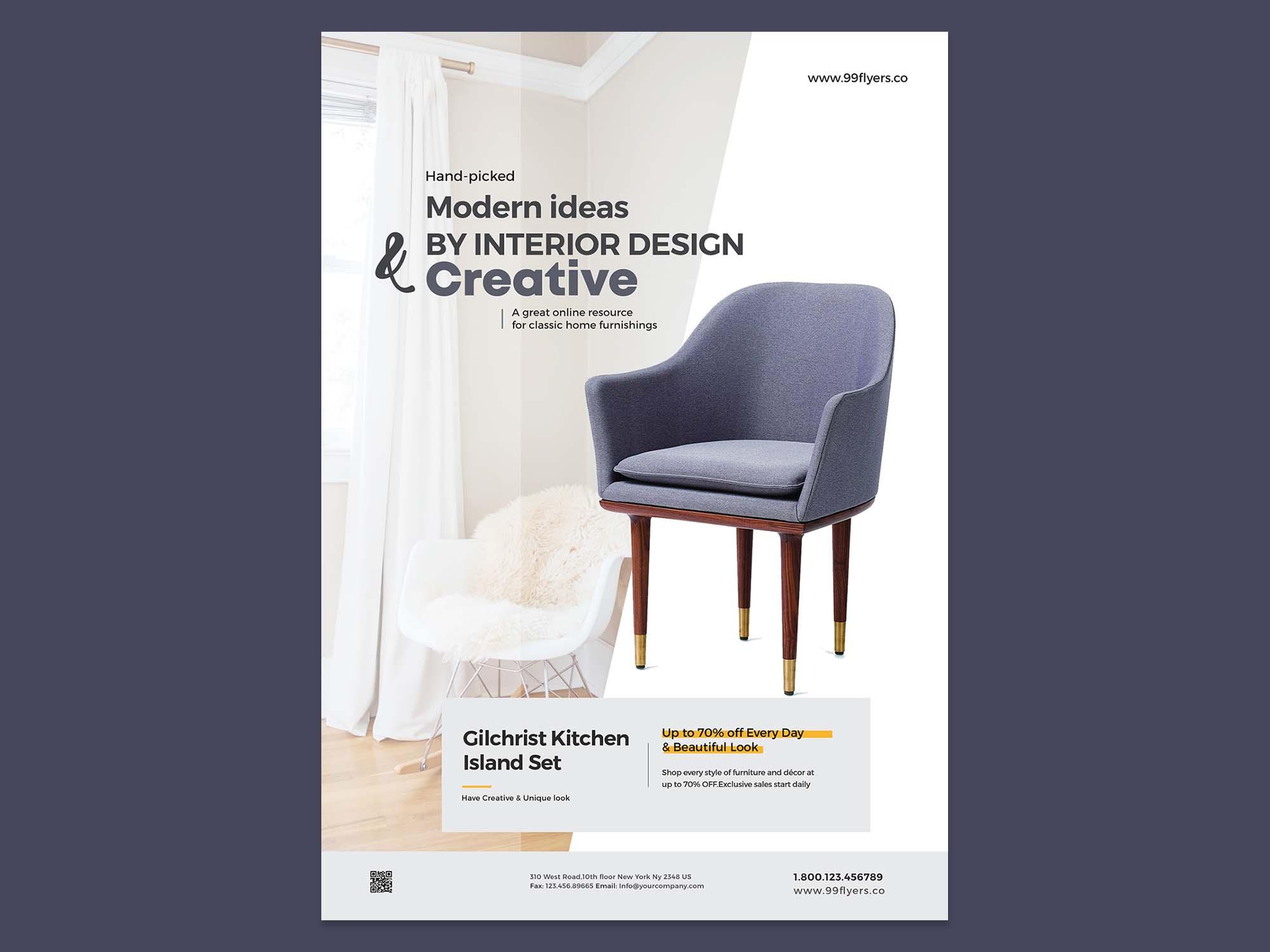Minimalist Furniture Flyer Template