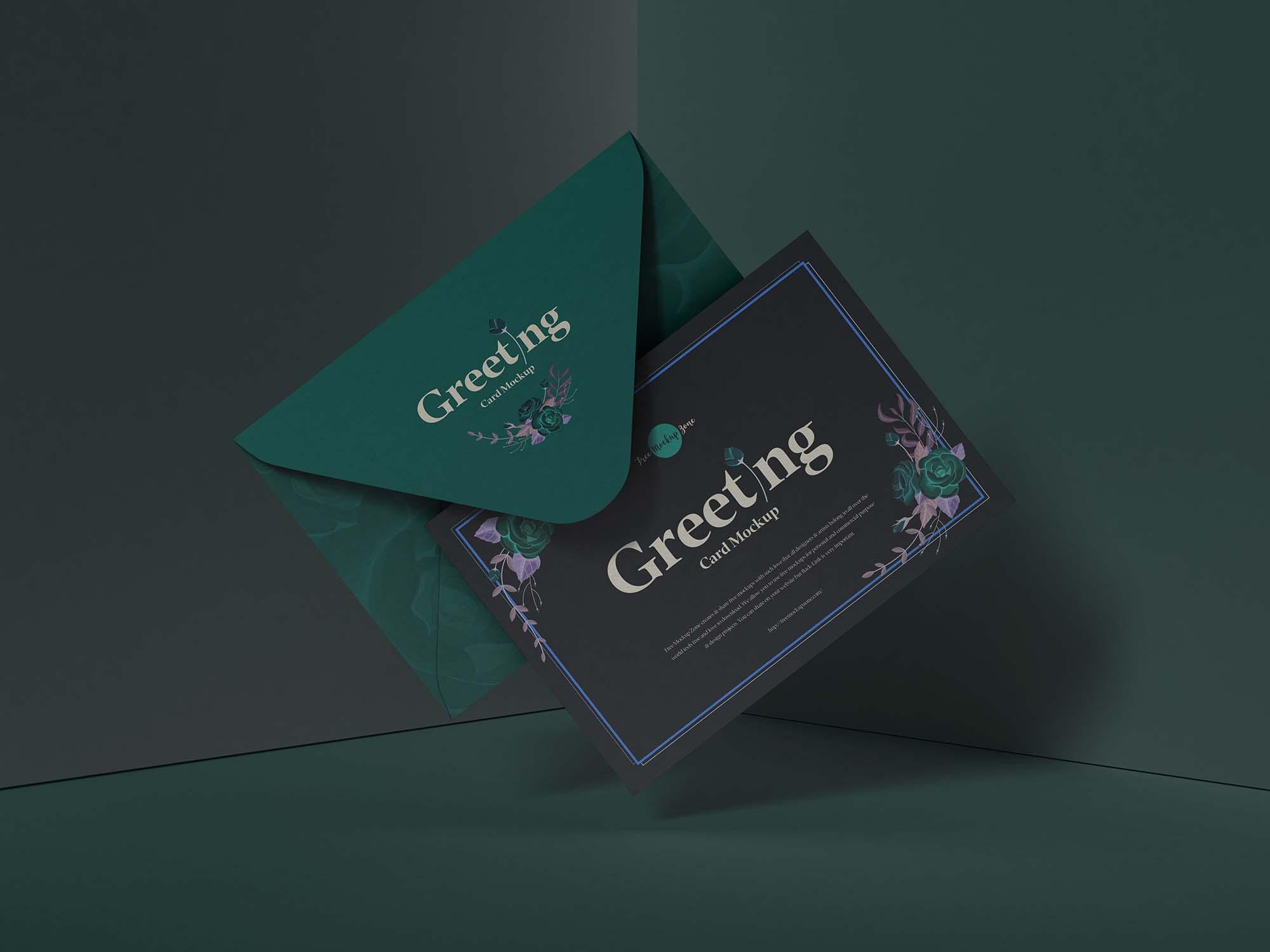 Modern Greeting Card Mockup 3