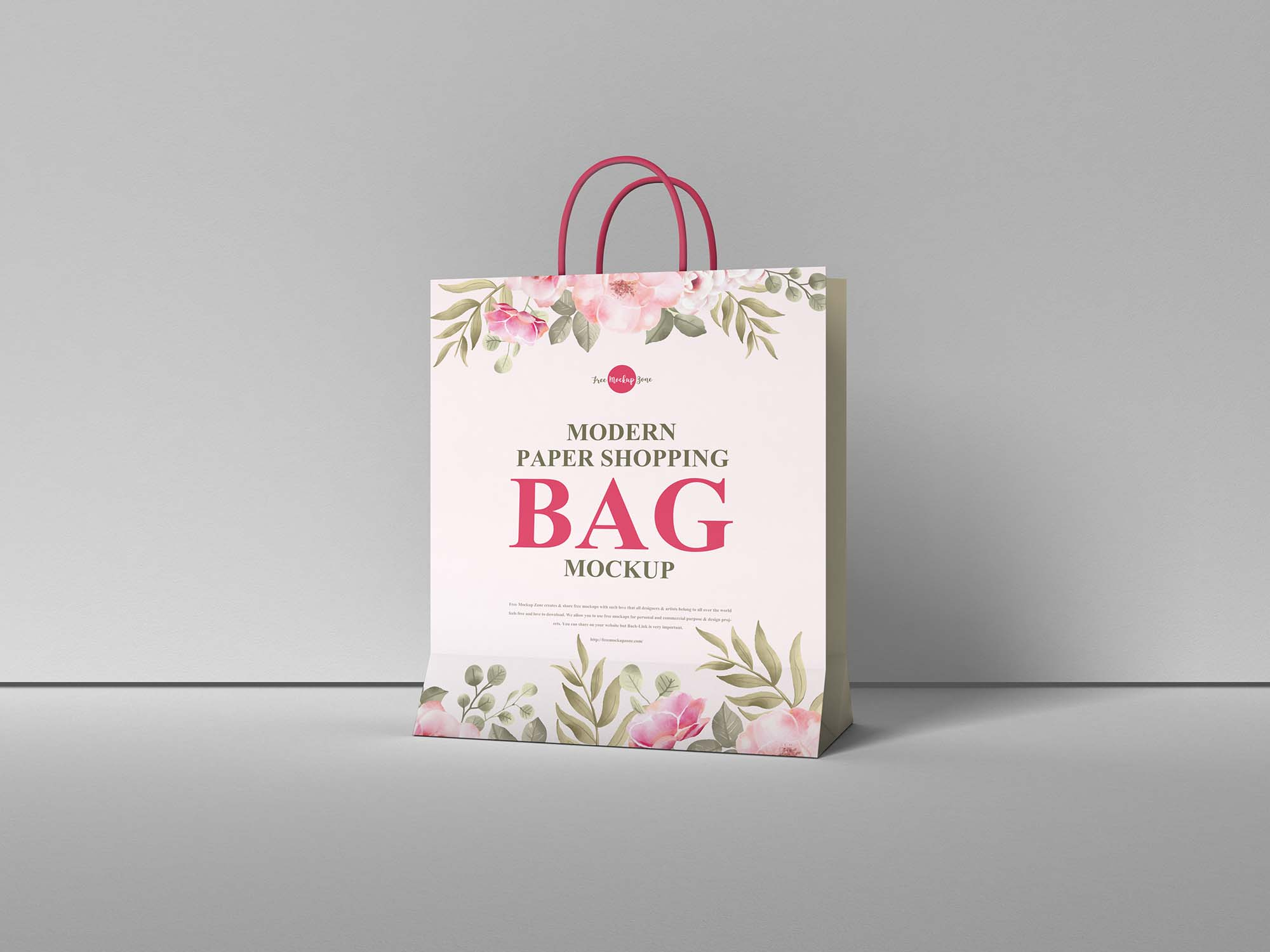 Modern Paper Shopping Bag Mockup