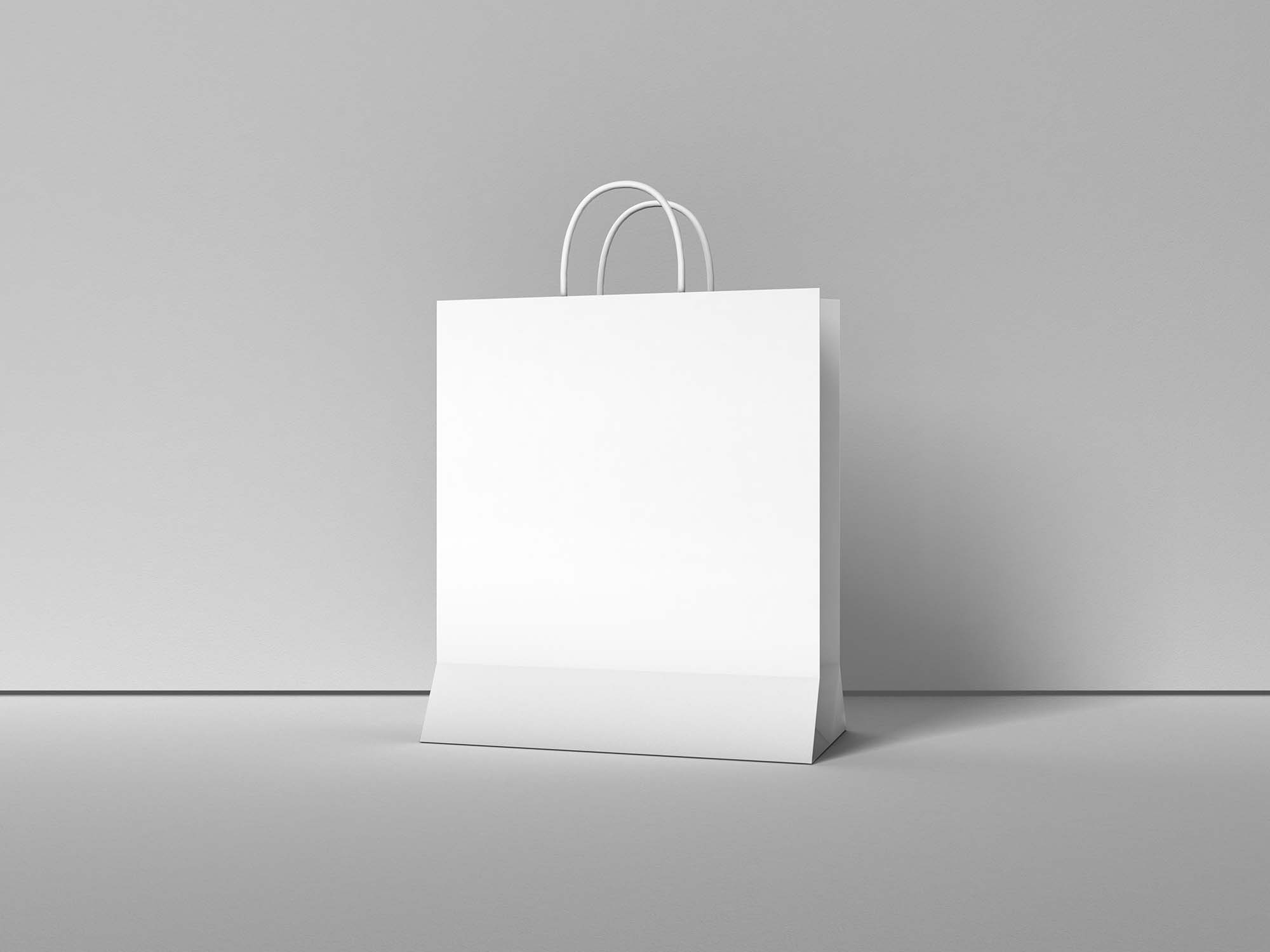 Modern Paper Shopping Bag Mockup 2