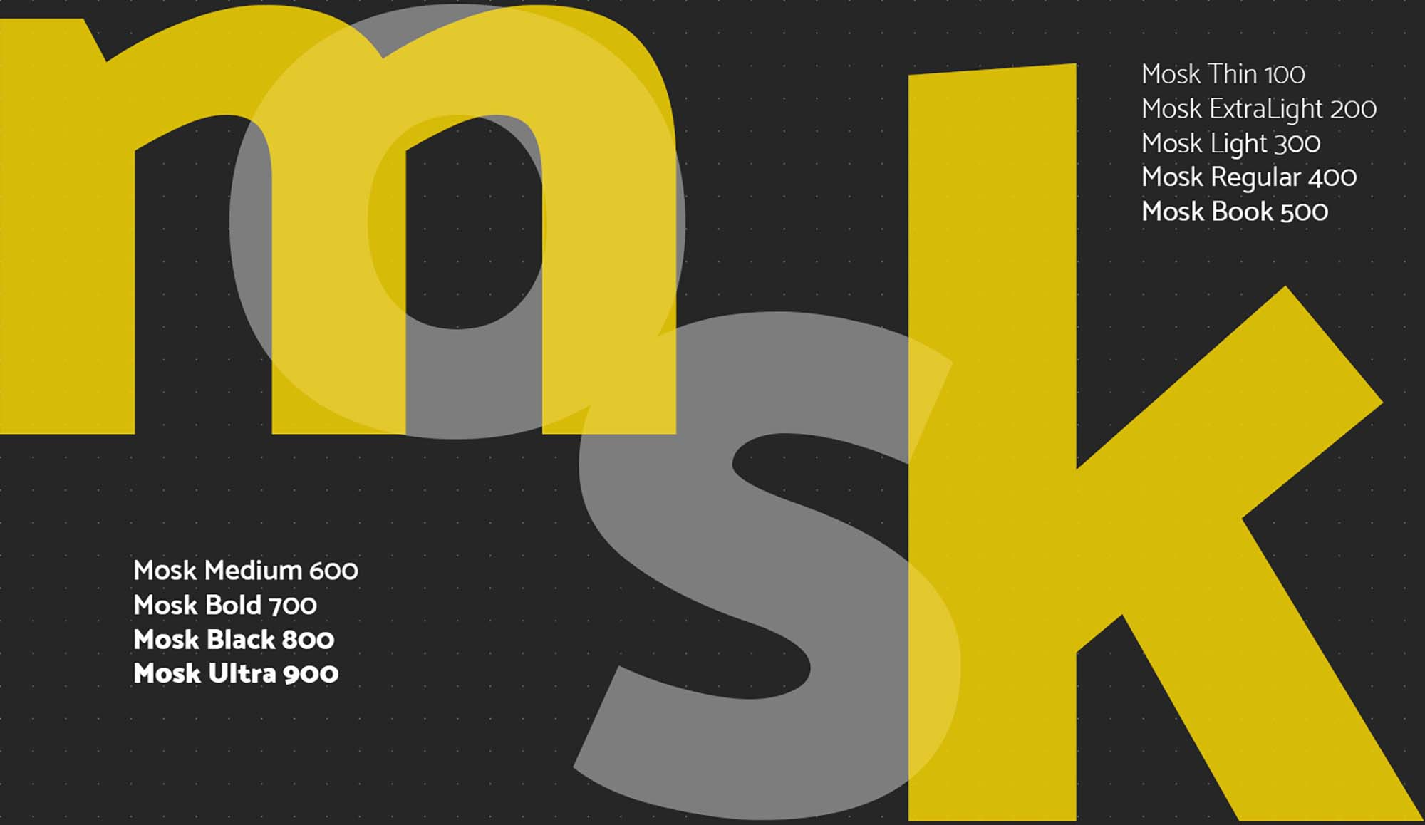 Mosk Sans Serif Typeface 1