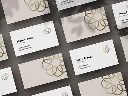 Mote Business Card Mockup