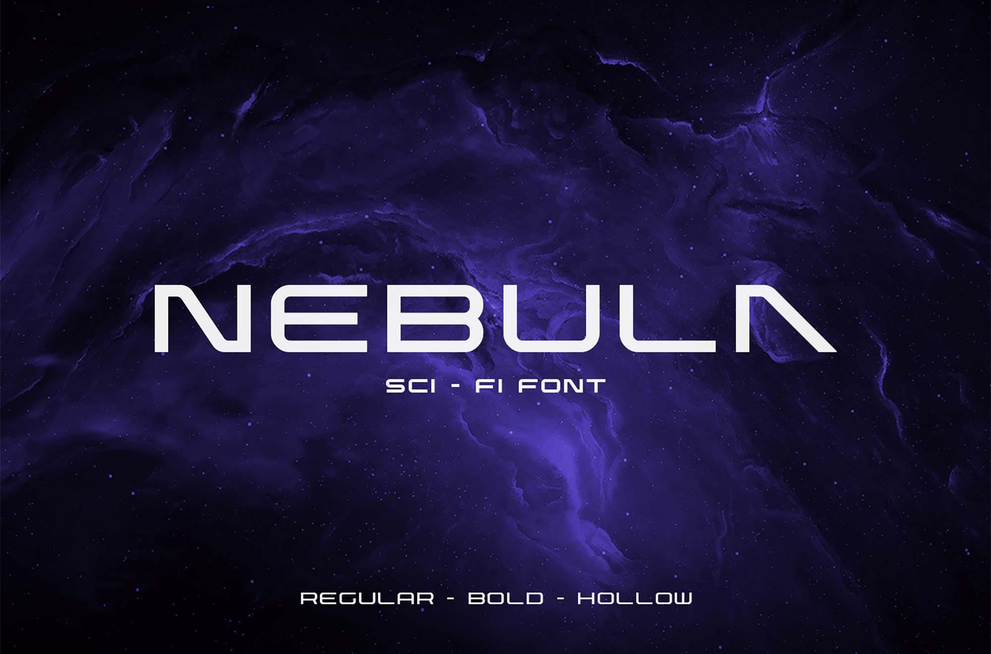 Nebula Futuristic Font