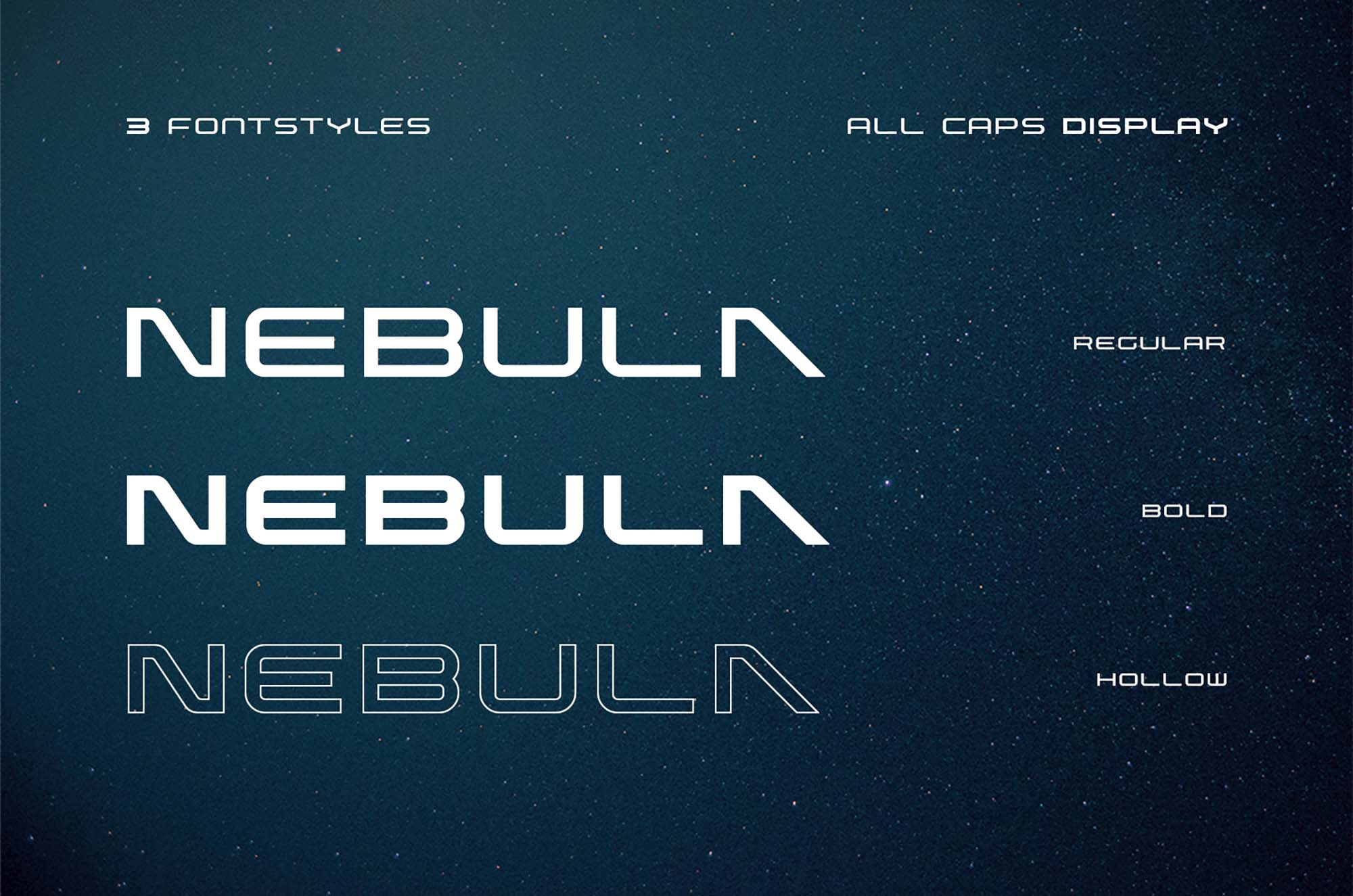 Nebula Futuristic Font 3