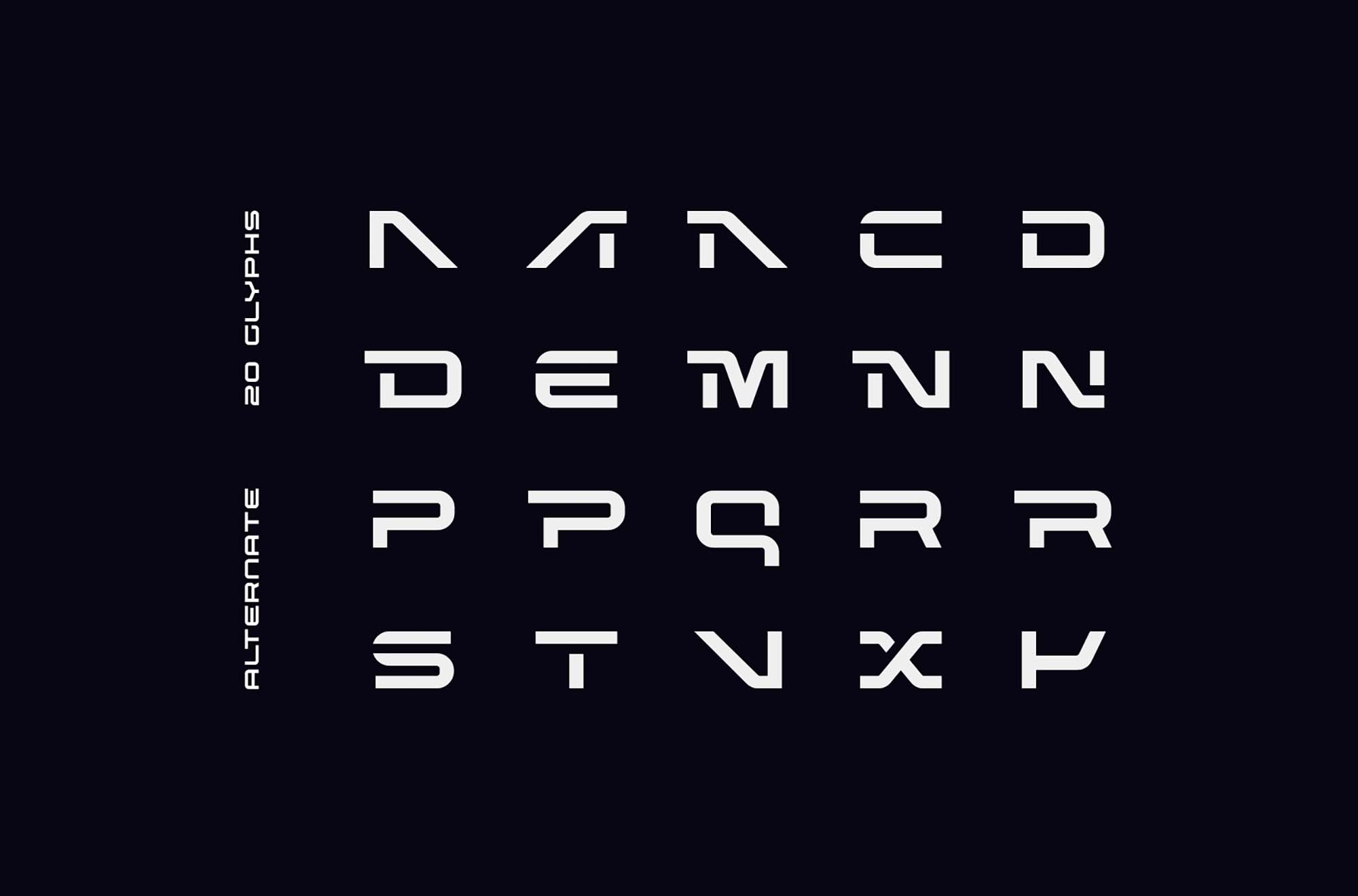 Nebula Futuristic Font 4