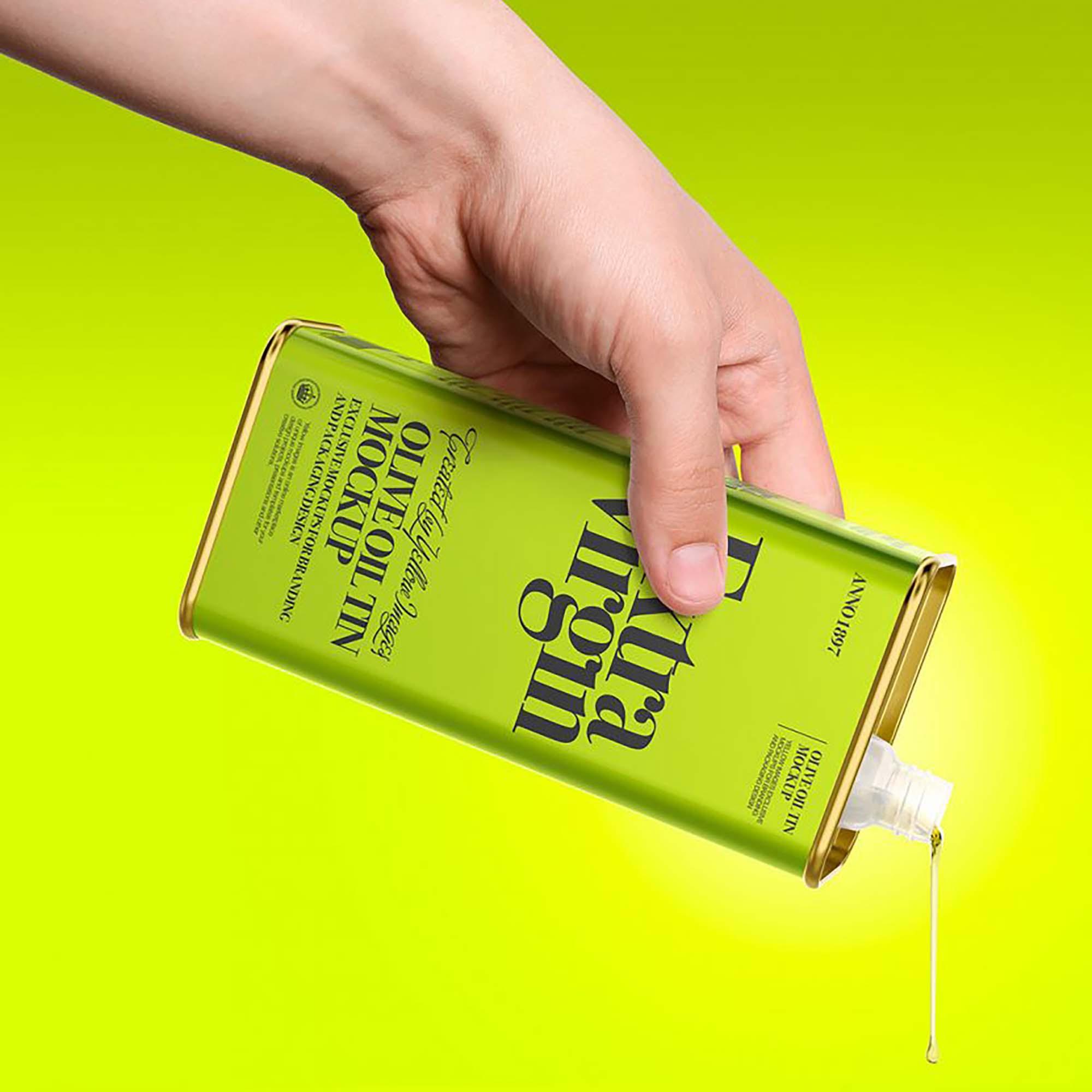 Olive Oil Can Mockup 2