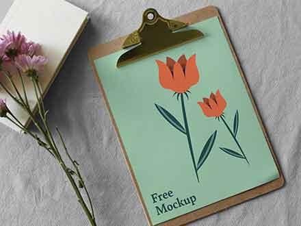 Paper Clipboard Mockup