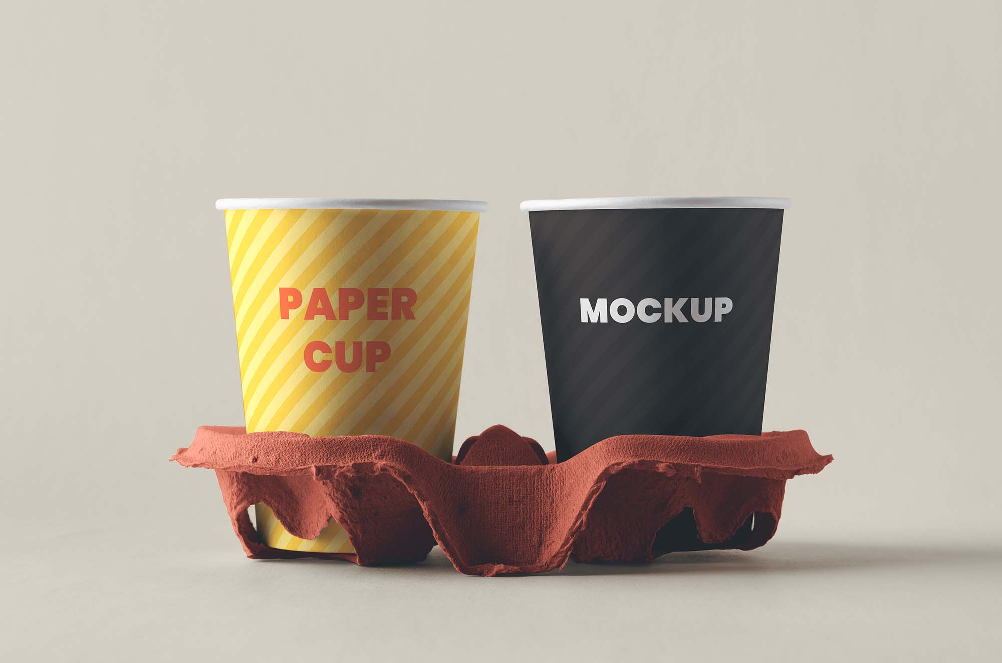 Paper Coffee Cups with Holder 2