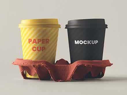 Paper Coffee Cups with Holder
