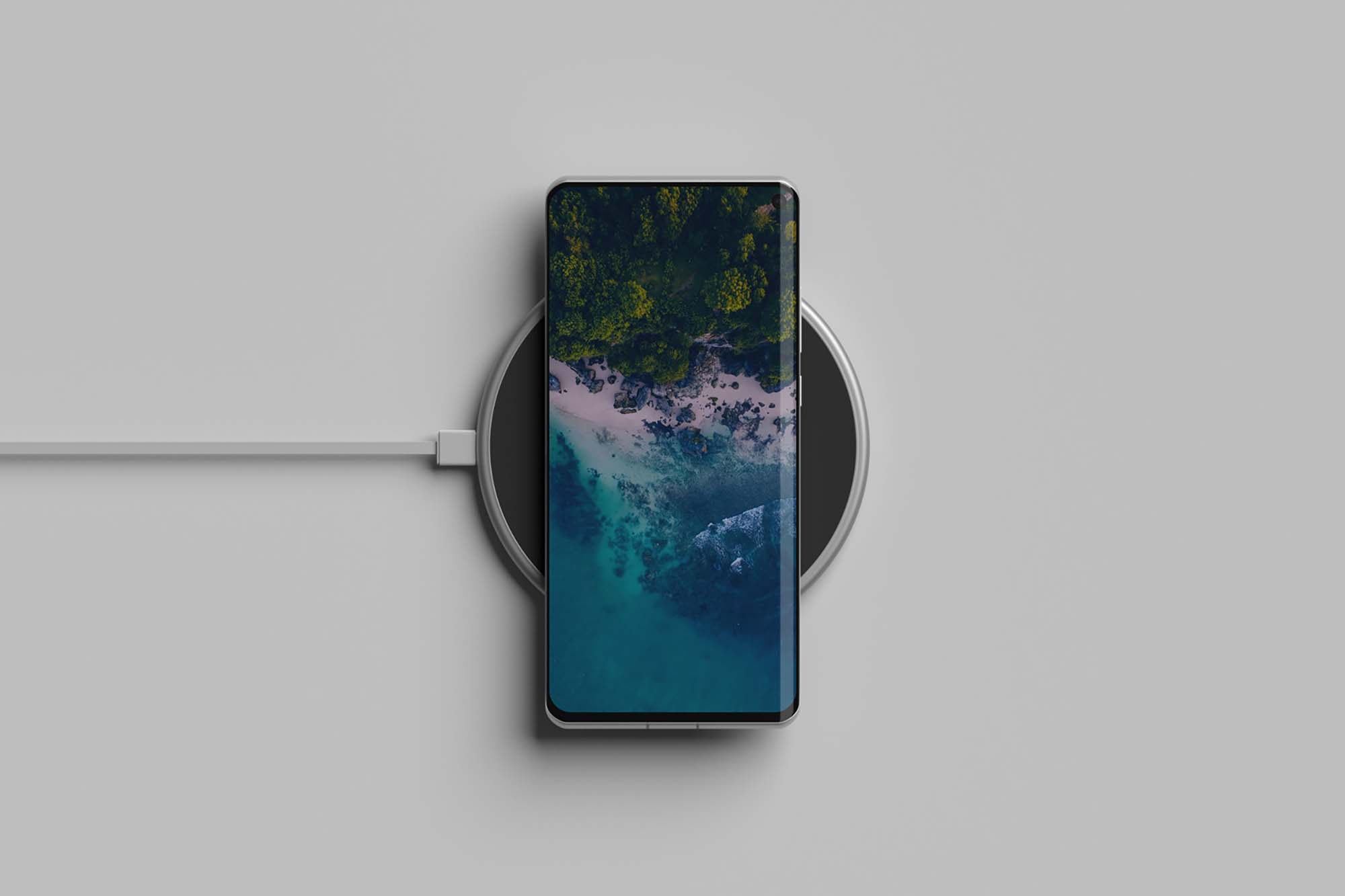 Phone on Wireless Charger Mockup 2