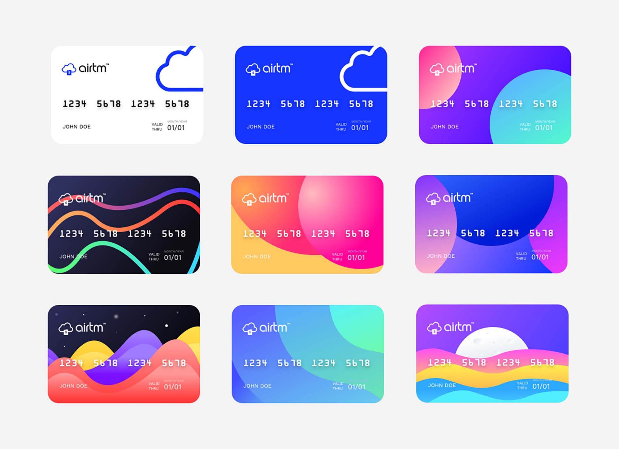 Prepaid Card Design Templates
