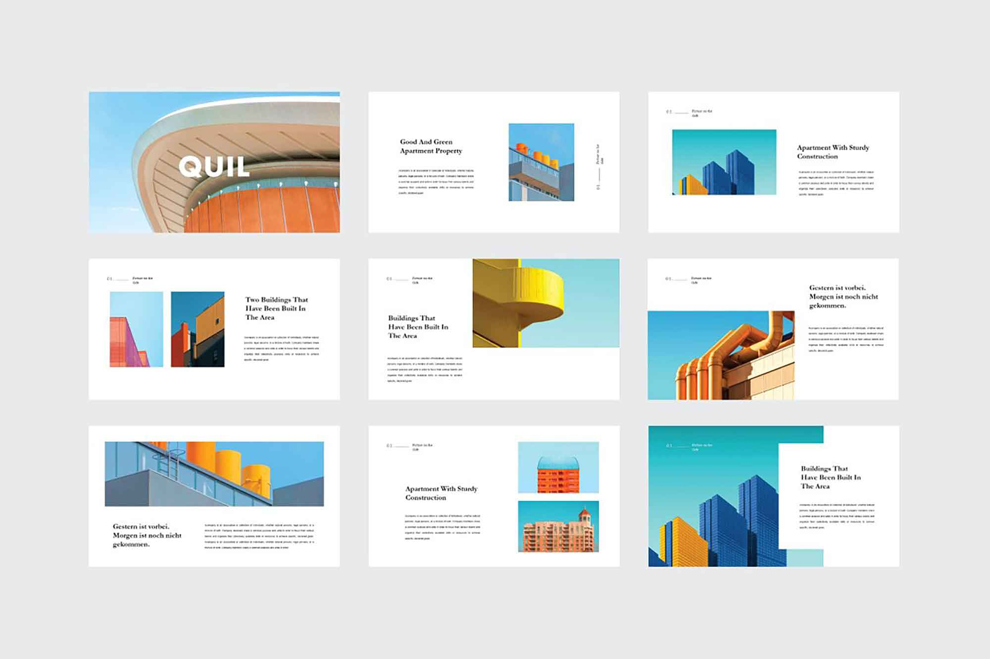 Quil Architecture PowerPoint Template 1
