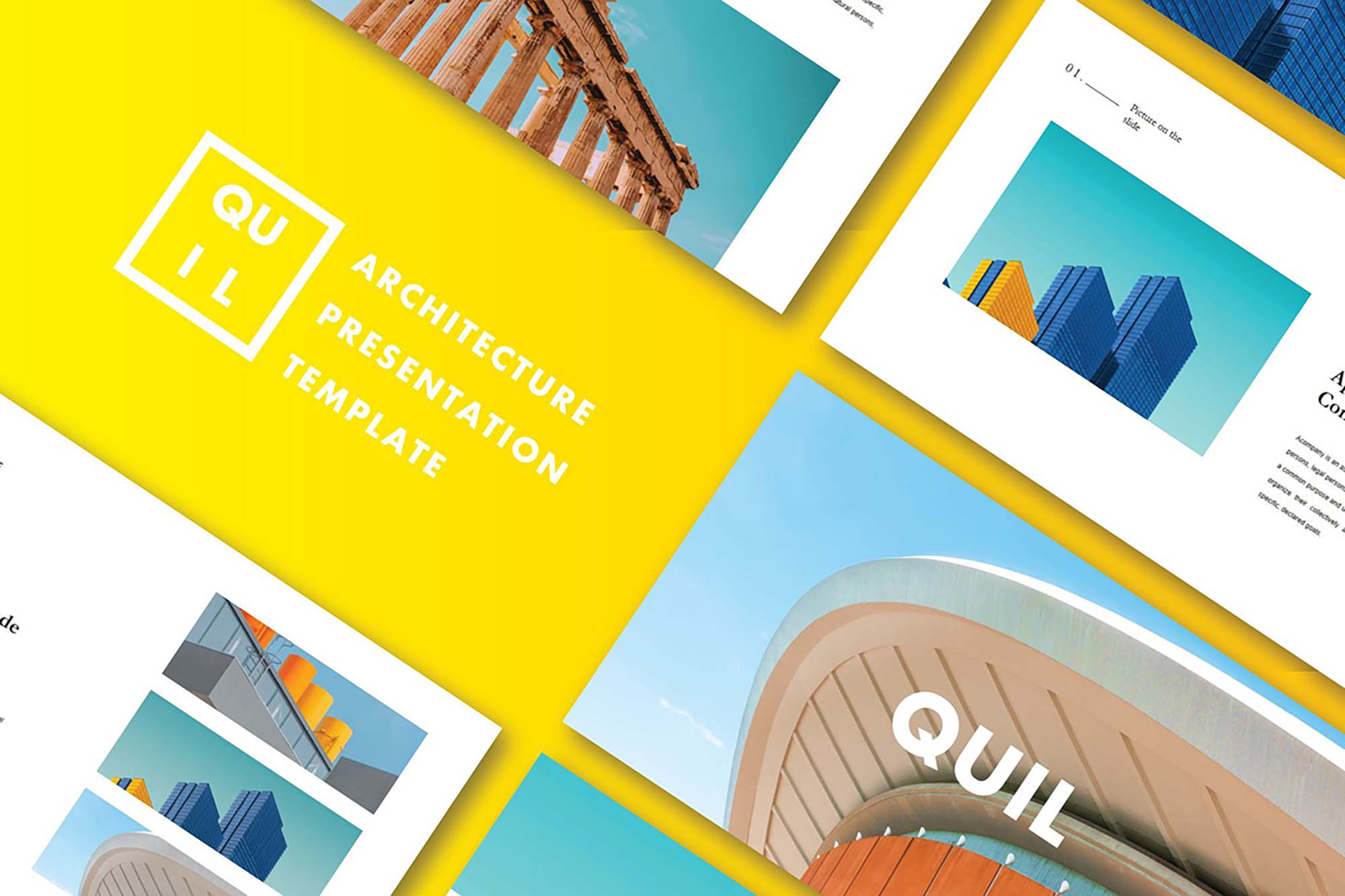 Quil Architecture PowerPoint Template