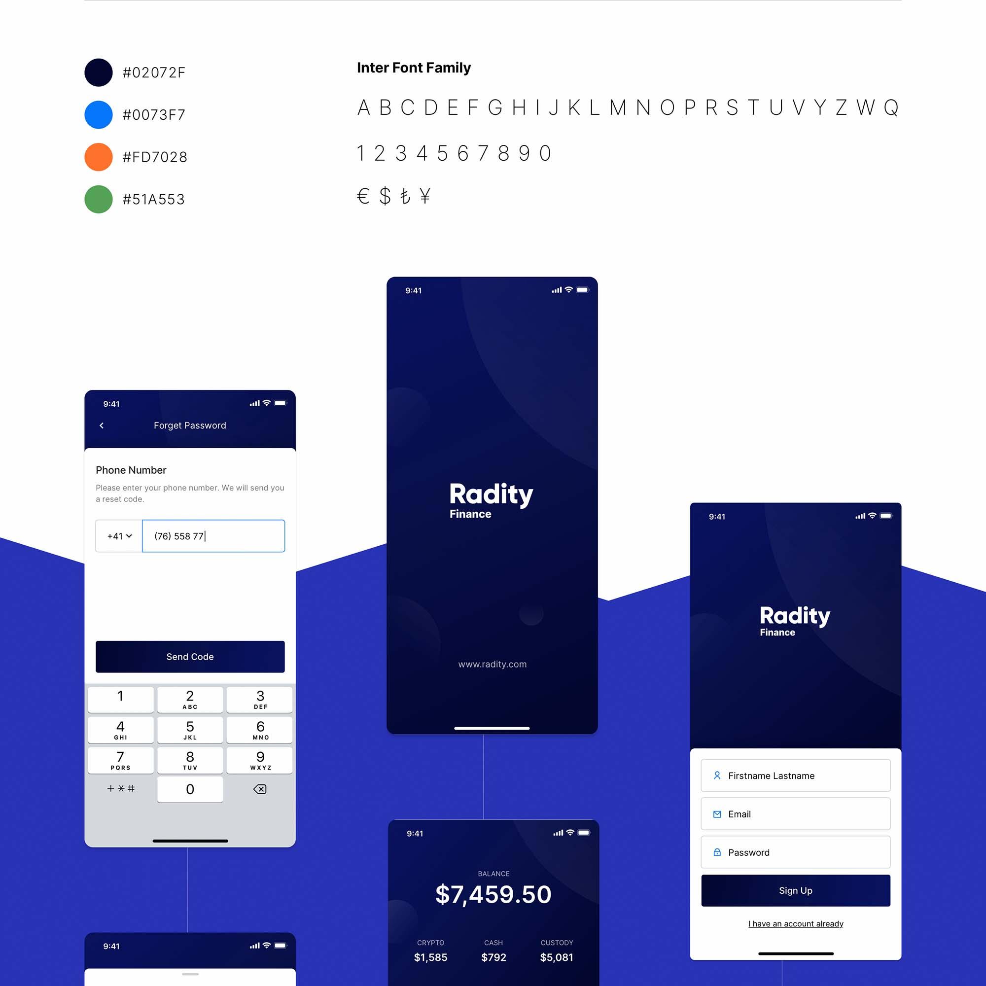 Radity Finance UI Kit 1