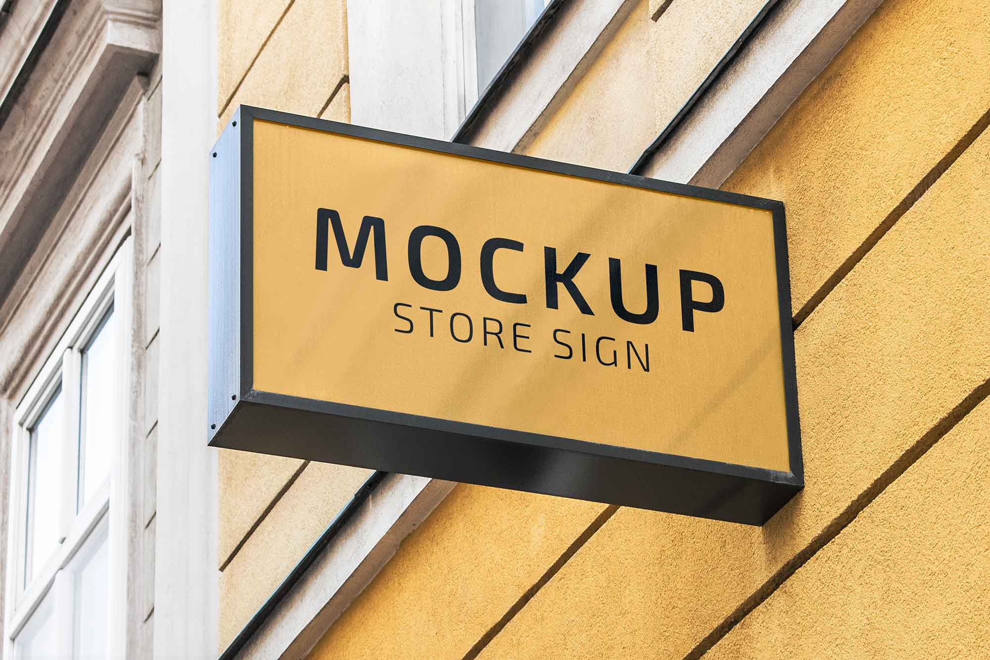 Realistic Store Sign Mockup